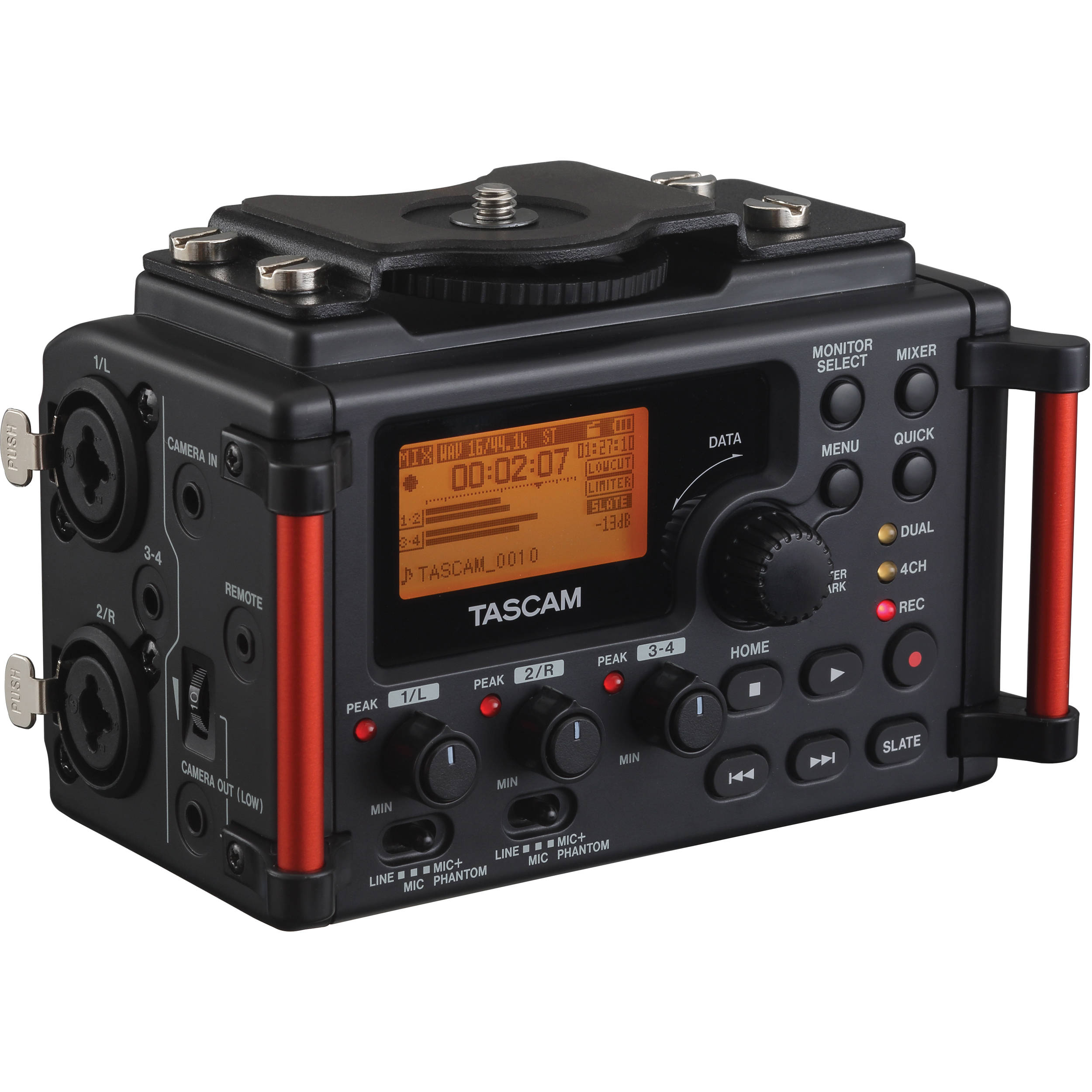 Portable Audio Digital Recorders Bh Photo Video Preamplifier Line Driver Tascam Dr 60dmkii 4 Channel Recorder For Dslr