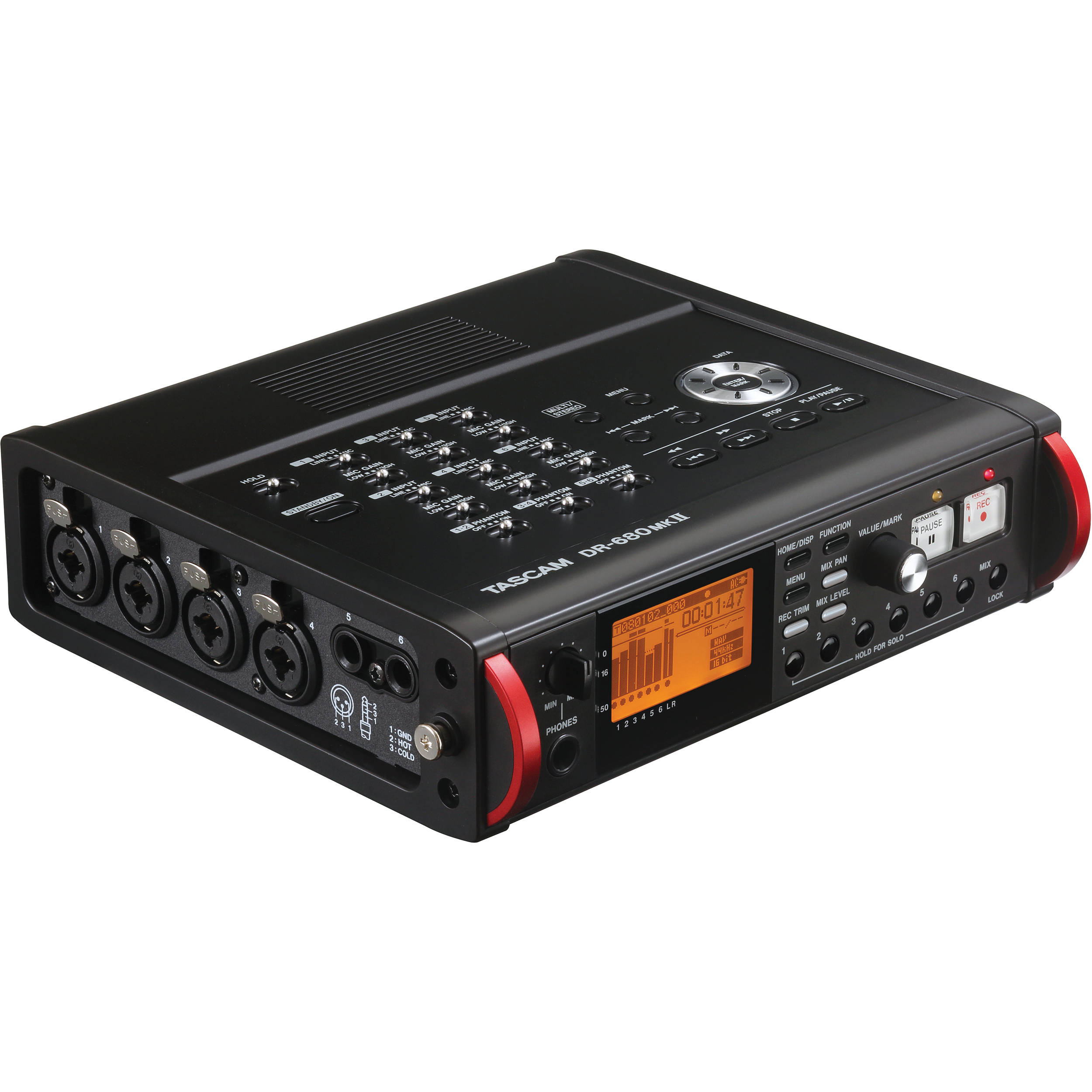tascam dr 680mkii portable multichannel recorder dr 680mkii b h rh bhphotovideo com Tascam DR- 60D Review Tascam Portable Digital Recorder
