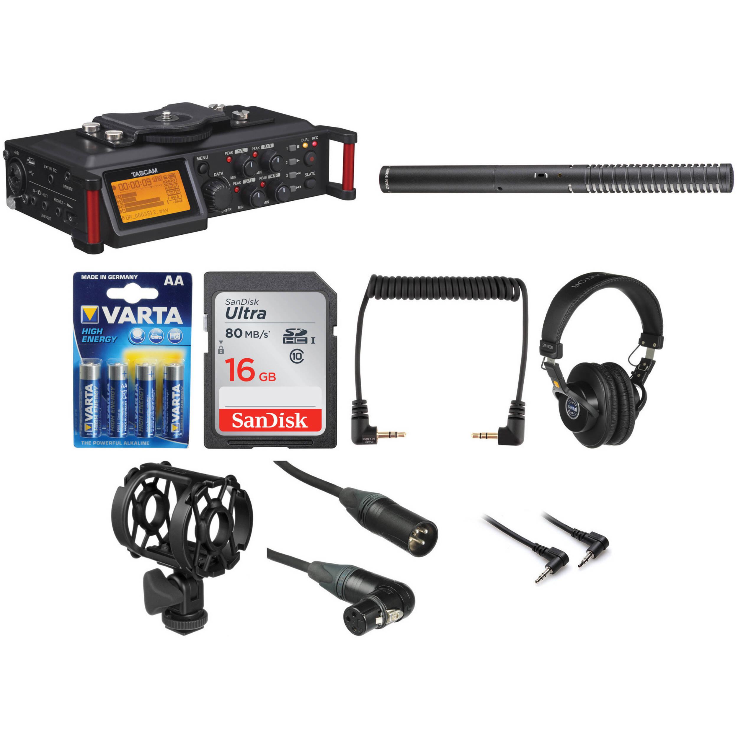 Tascam Dr 70d Recorder Filmmaker Kit Bh Photo Video Mdisk Headset Super Boom J278