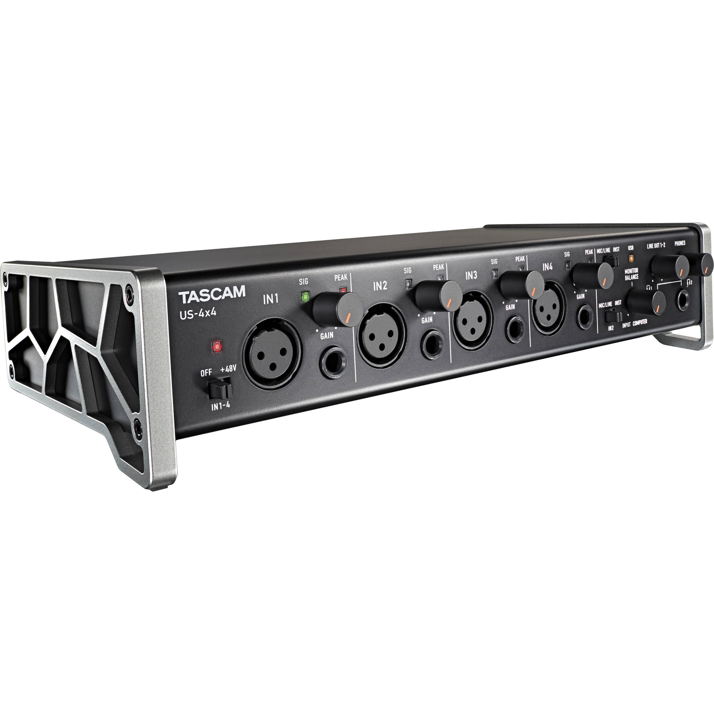 tascam us 4x4 4 channel usb audio interface us 4x4 b h photo. Black Bedroom Furniture Sets. Home Design Ideas