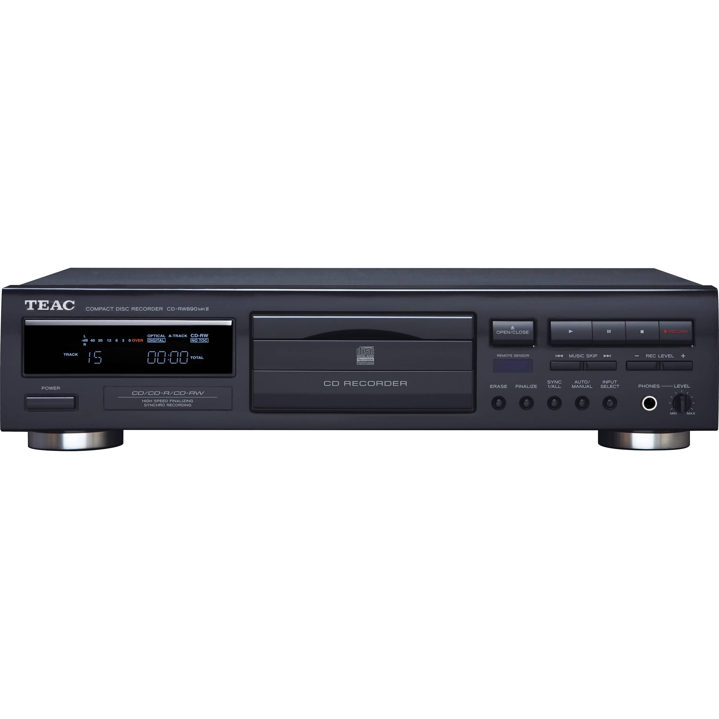 teac cd rw890mkii cd recorder cd rw890mk2 b b h photo video rh bhphotovideo com CDW CD Recorders TEAC CD Recorder Player