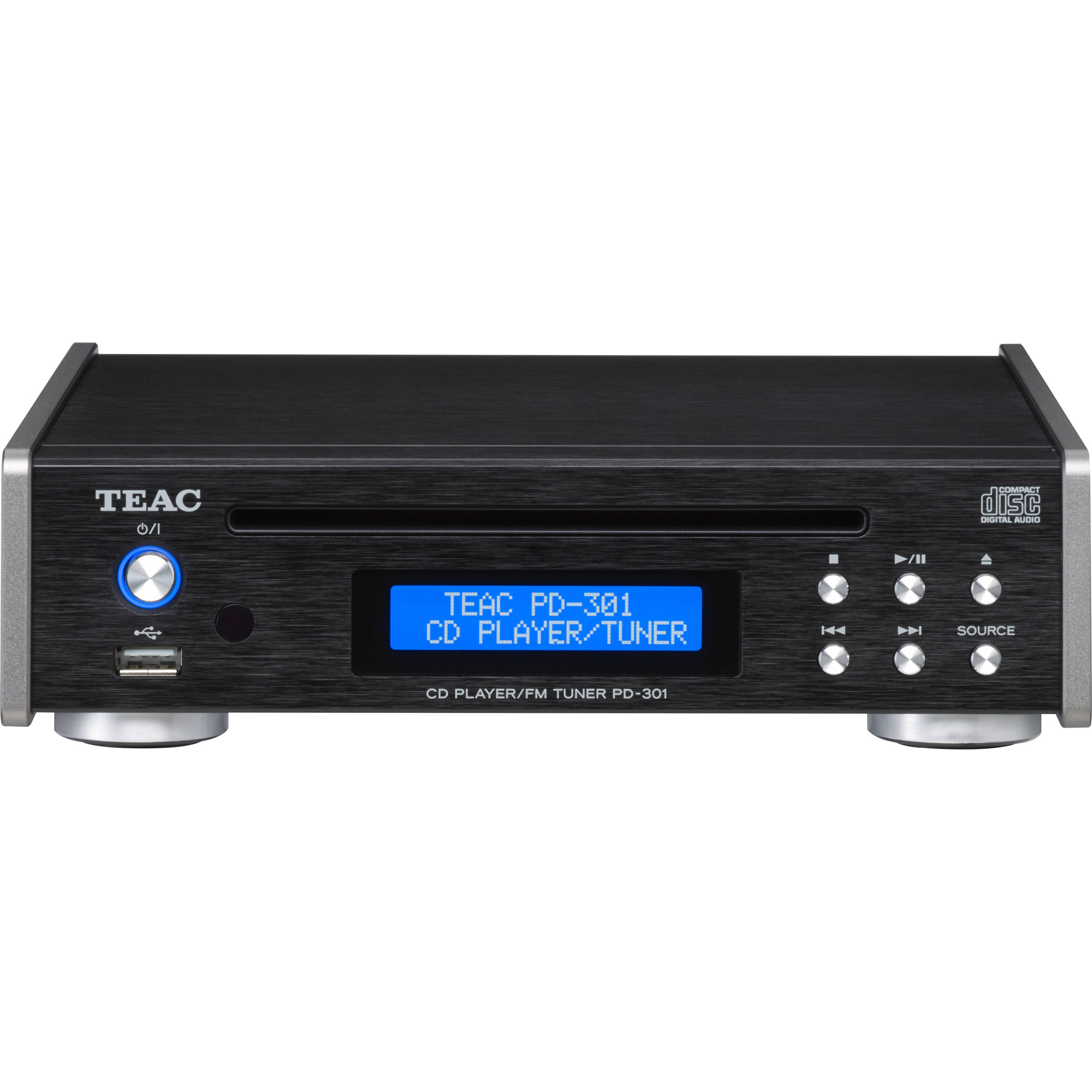 Teac PD 301 CD Player With FM Tuner Black PD 301 B BampH Photo