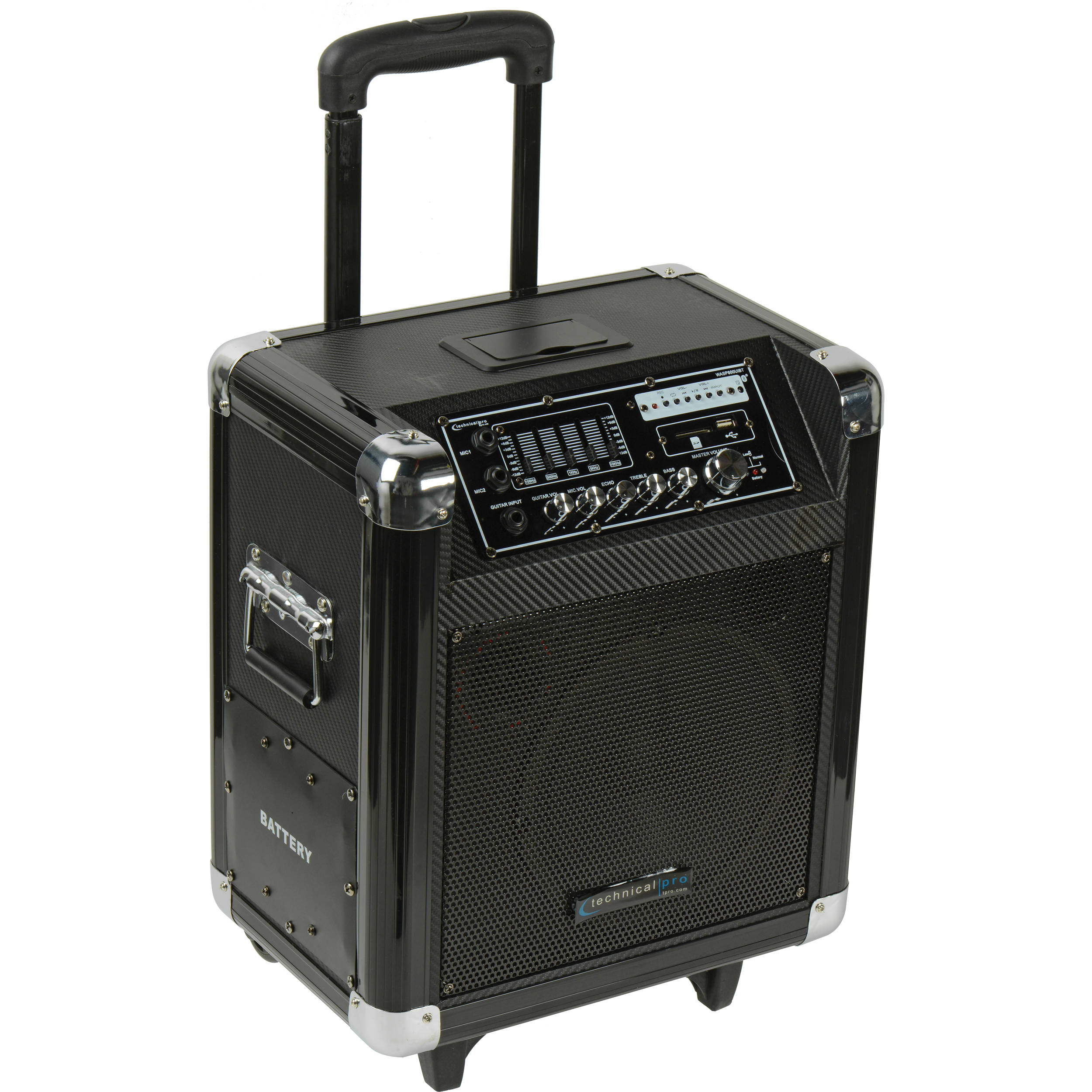 Technical Pro Wasp800uibt 8 Quot Portable Pa System Wasp800uibt