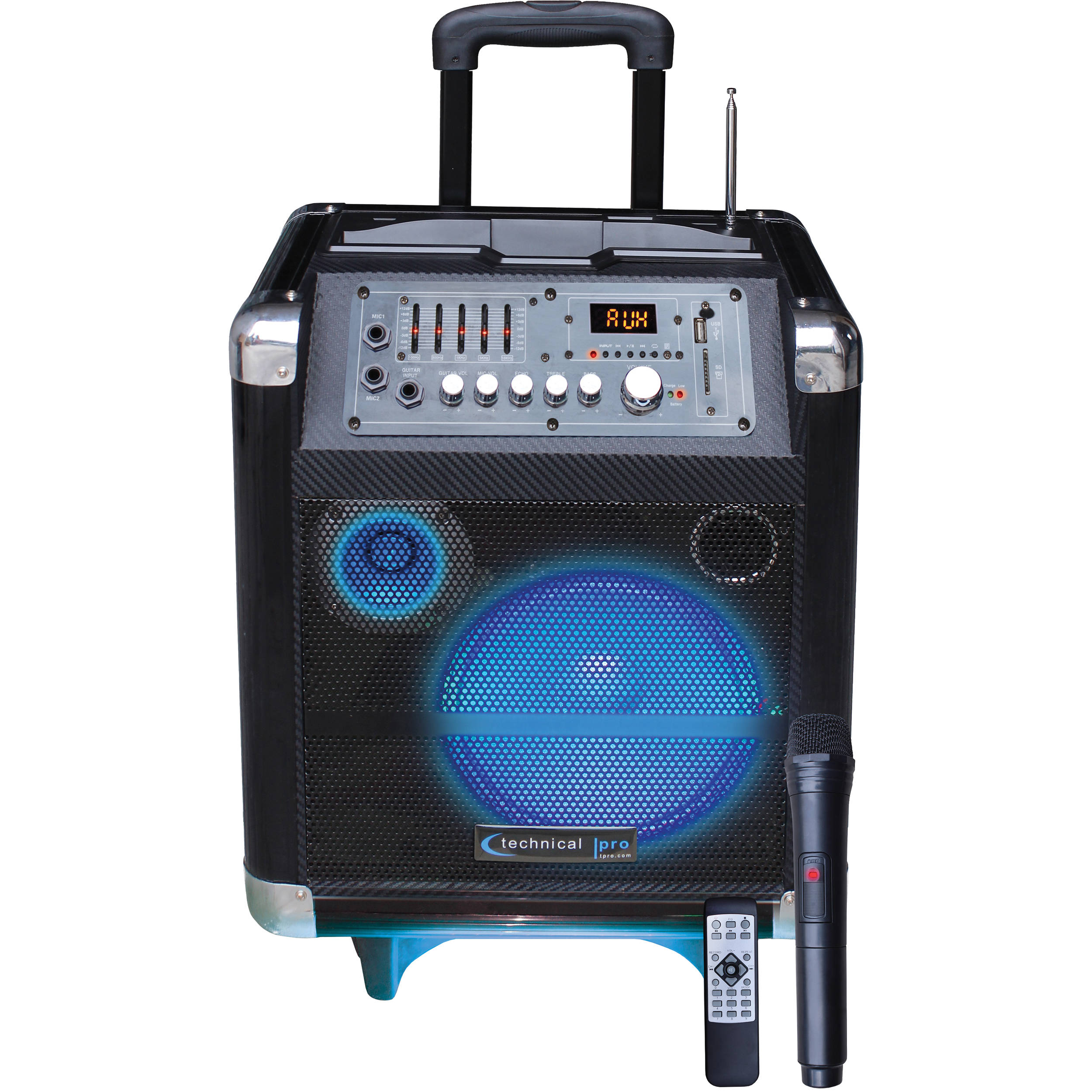 Technical Pro WASP850LBT 8   Portable PA System with Rechargeable Battery    Wireless VHF Handheld Microphone cec00cf26f2f6