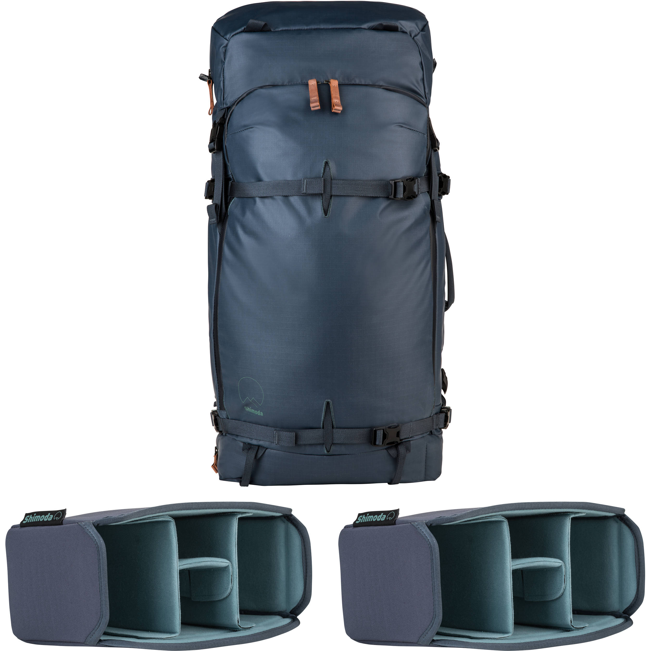 Shimoda Designs Explore 60 Backpack Starter Kit With 2 520 013 Tumi Hanger Small Core Units Blue Nights