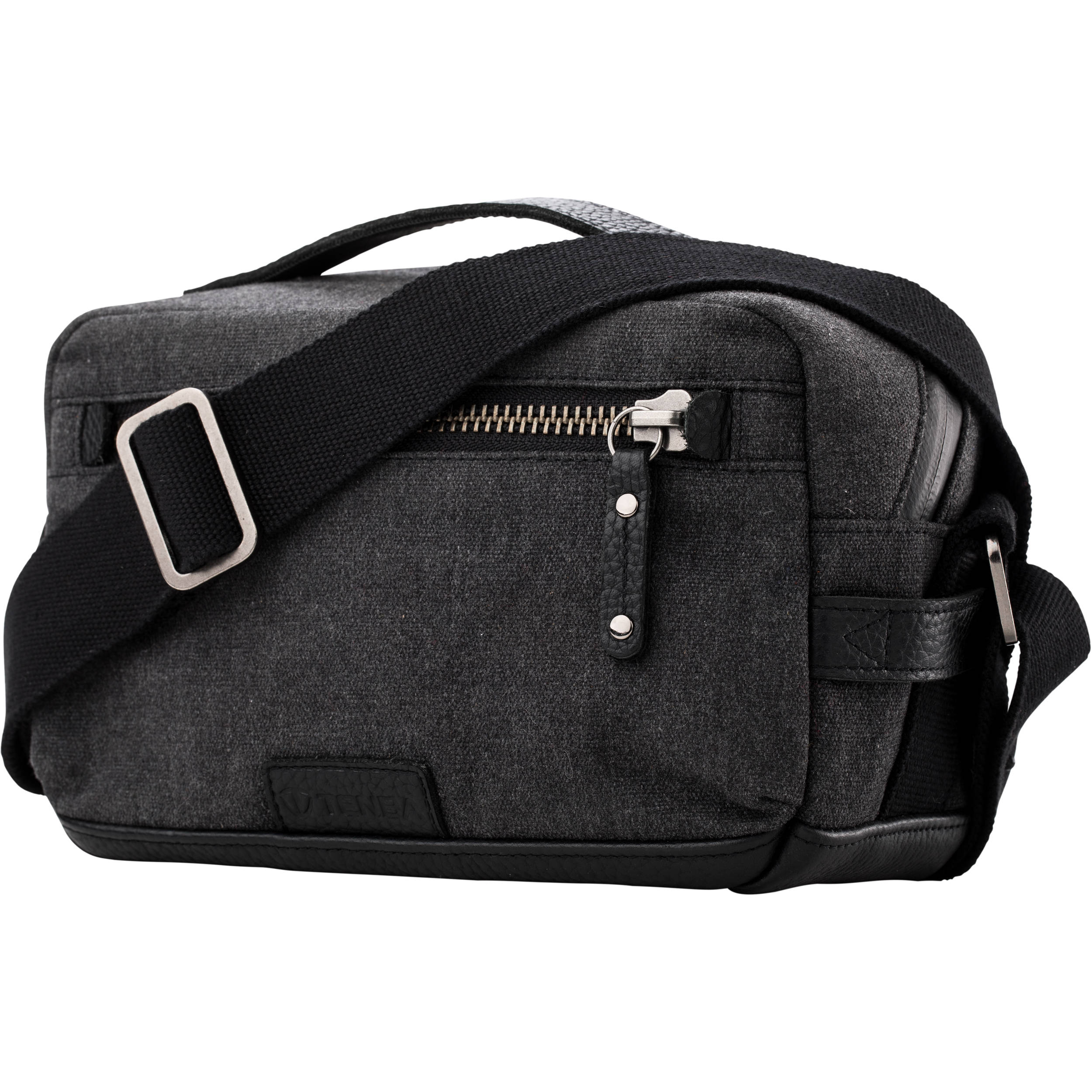Tenba Cooper Luxury Canvas 6 Camera Bag With Leather Accents Gray