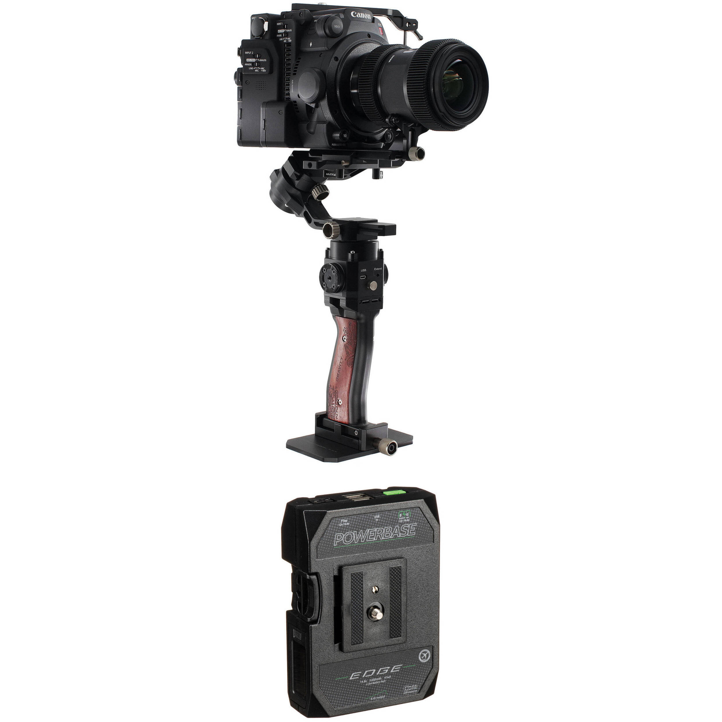 Vidpro PG-6X Rechargeable Battery Hand Grip with Folding Extension Bracket for GoPro Hero Action Cameras Camcorders and Smart Phones 7 5X Extended Run Works with GoPro Max and Hero 8 5 etc. 6