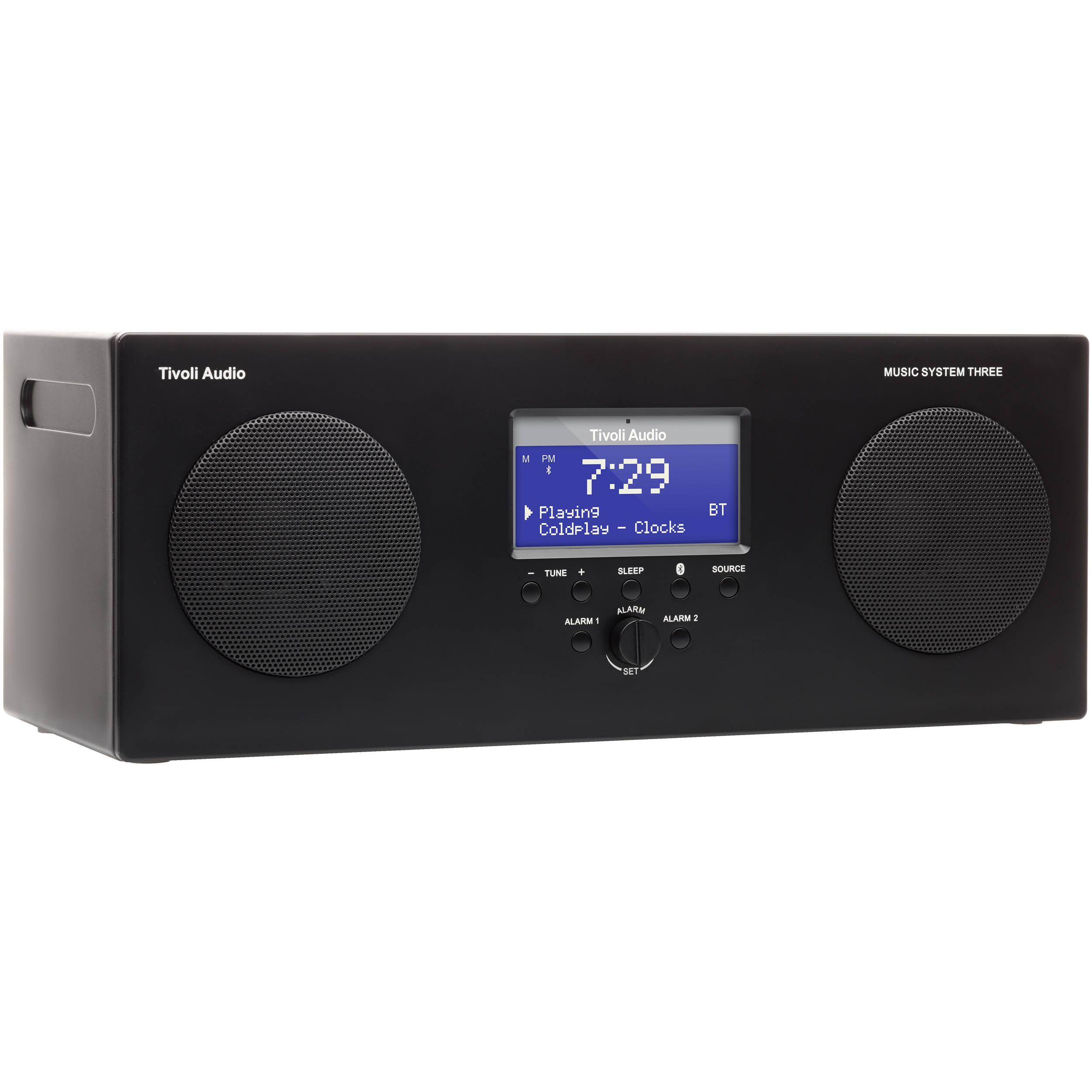 tivoli music system three portable hi fi system msy3blk b h. Black Bedroom Furniture Sets. Home Design Ideas