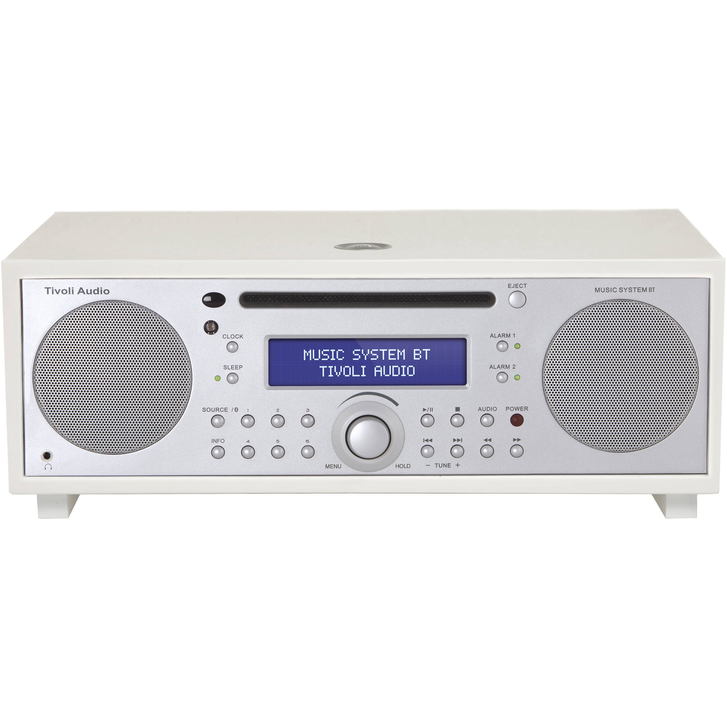 Tivoli Music System BT (Piano White/Silver) MSYBTWHT B&H Photo