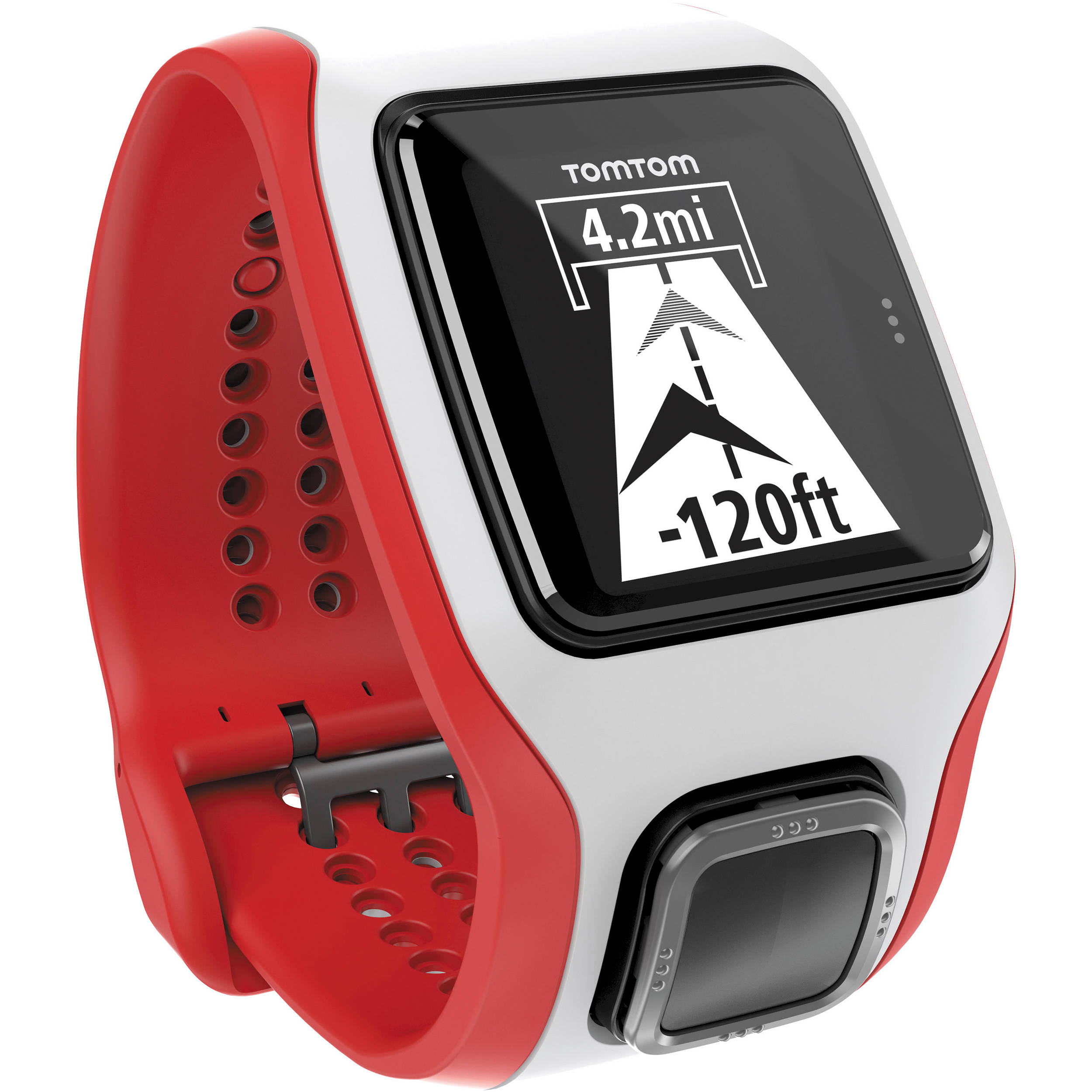 tomtom runner cardio gps sports white and