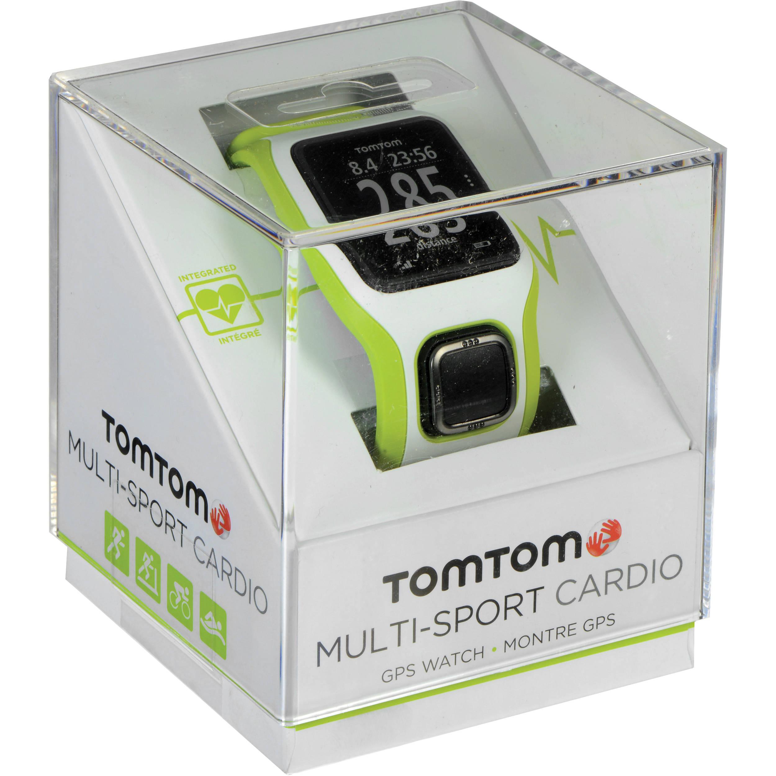 TomTom Multi Sport Cardio GPS Watch GreenWhite TomTom