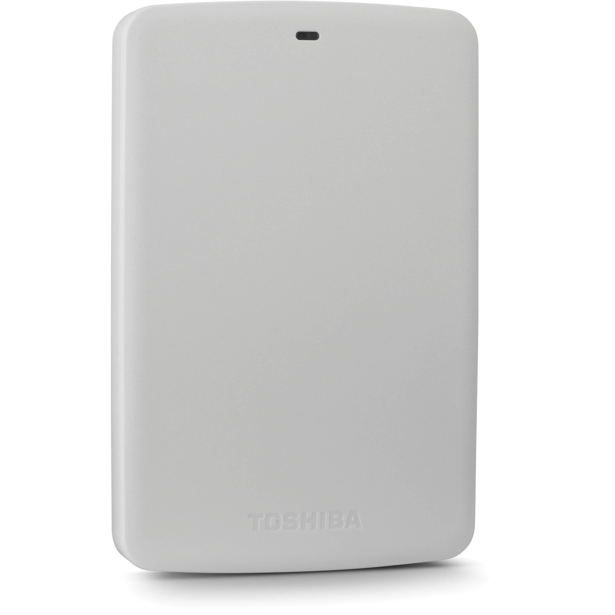 Toshiba 1tb Canvio Basics 5400 Rpm Usb 30 External Hdtb310xw3aa Hardisk Hard Drive White