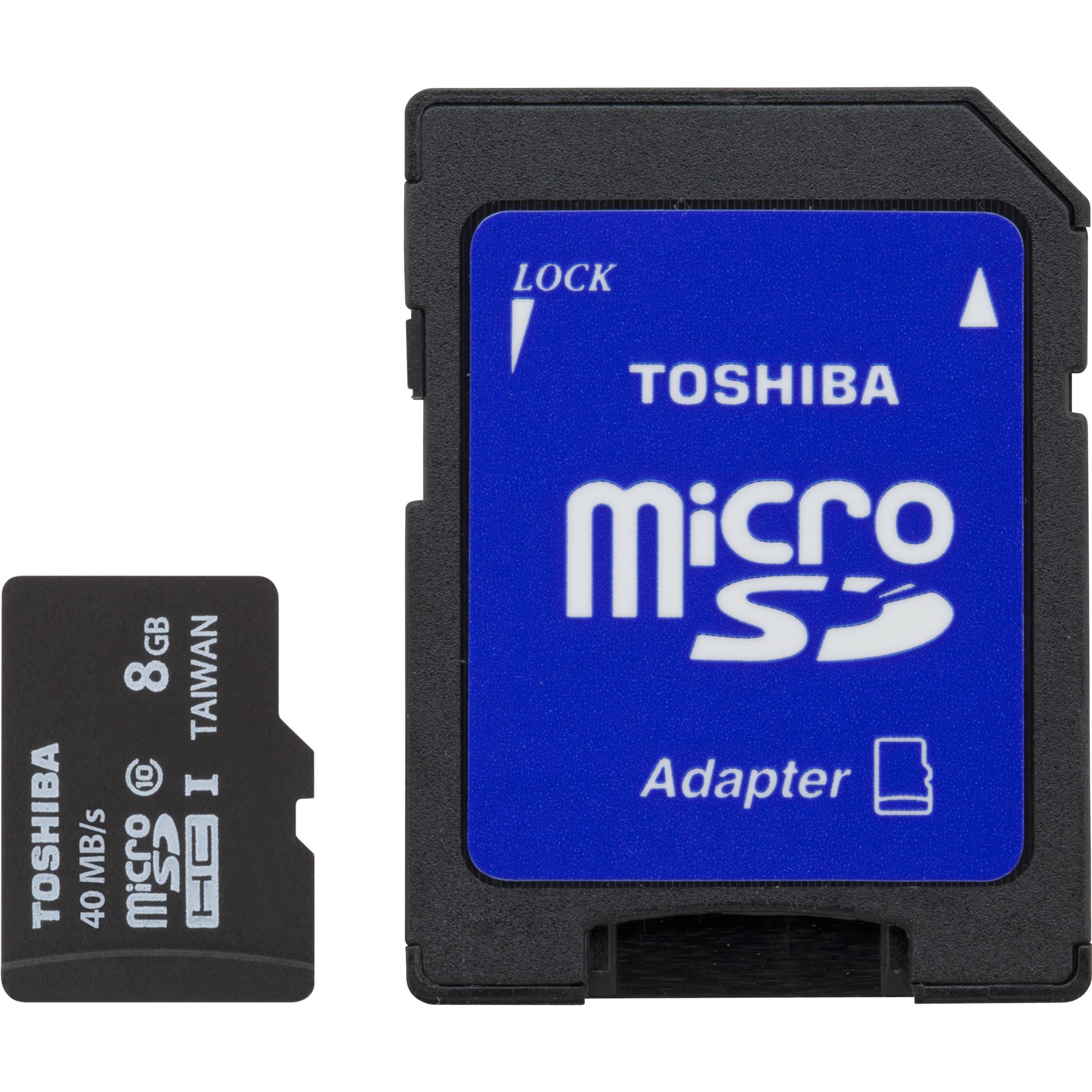 Toshiba 8GB UHS-I microSDHC Memory Card (Class 10) PFM008U-2DCK