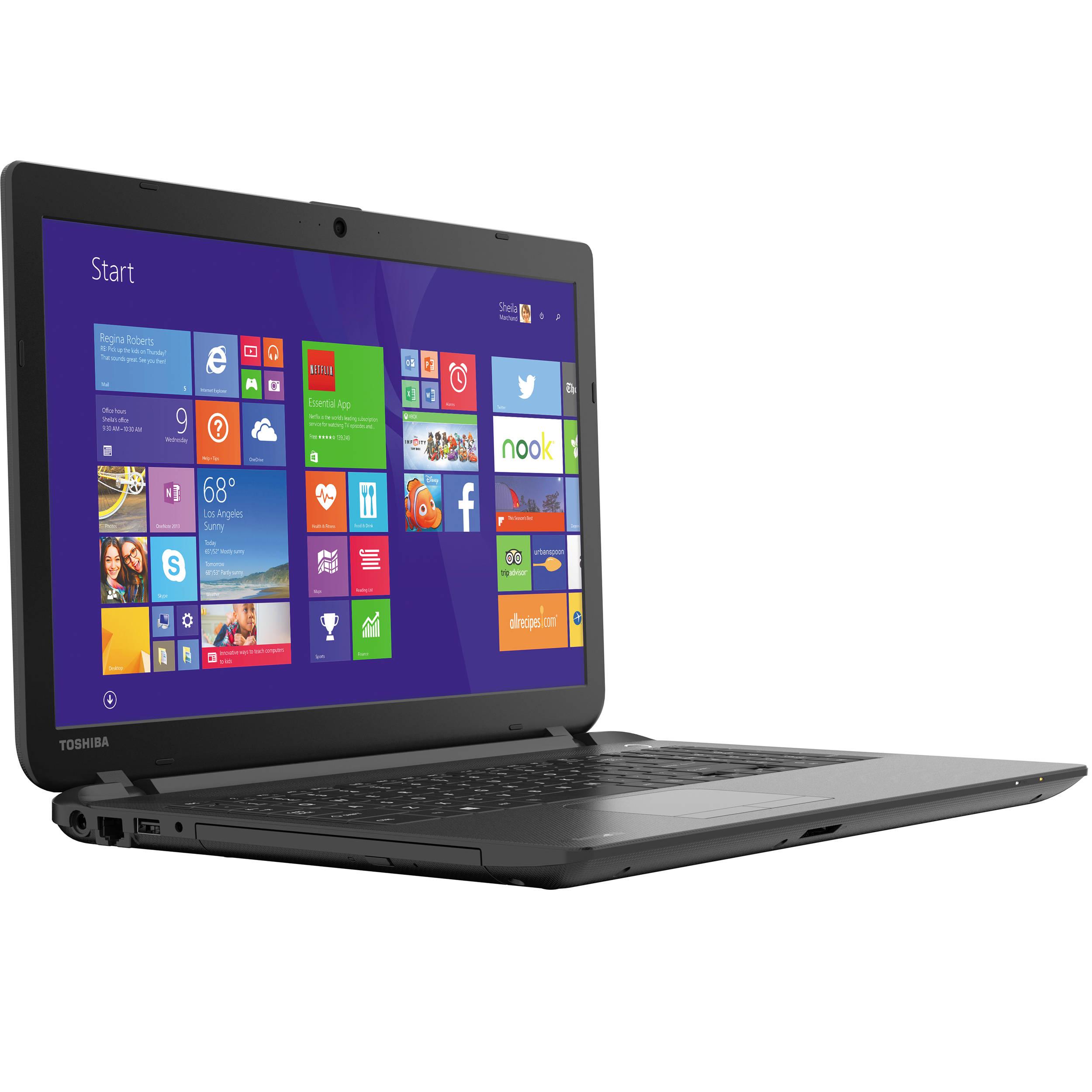 "Toshiba 15.6"" Satellite C55 Series Notebook with Windows 8.1 with Bing (Jet  Black)"
