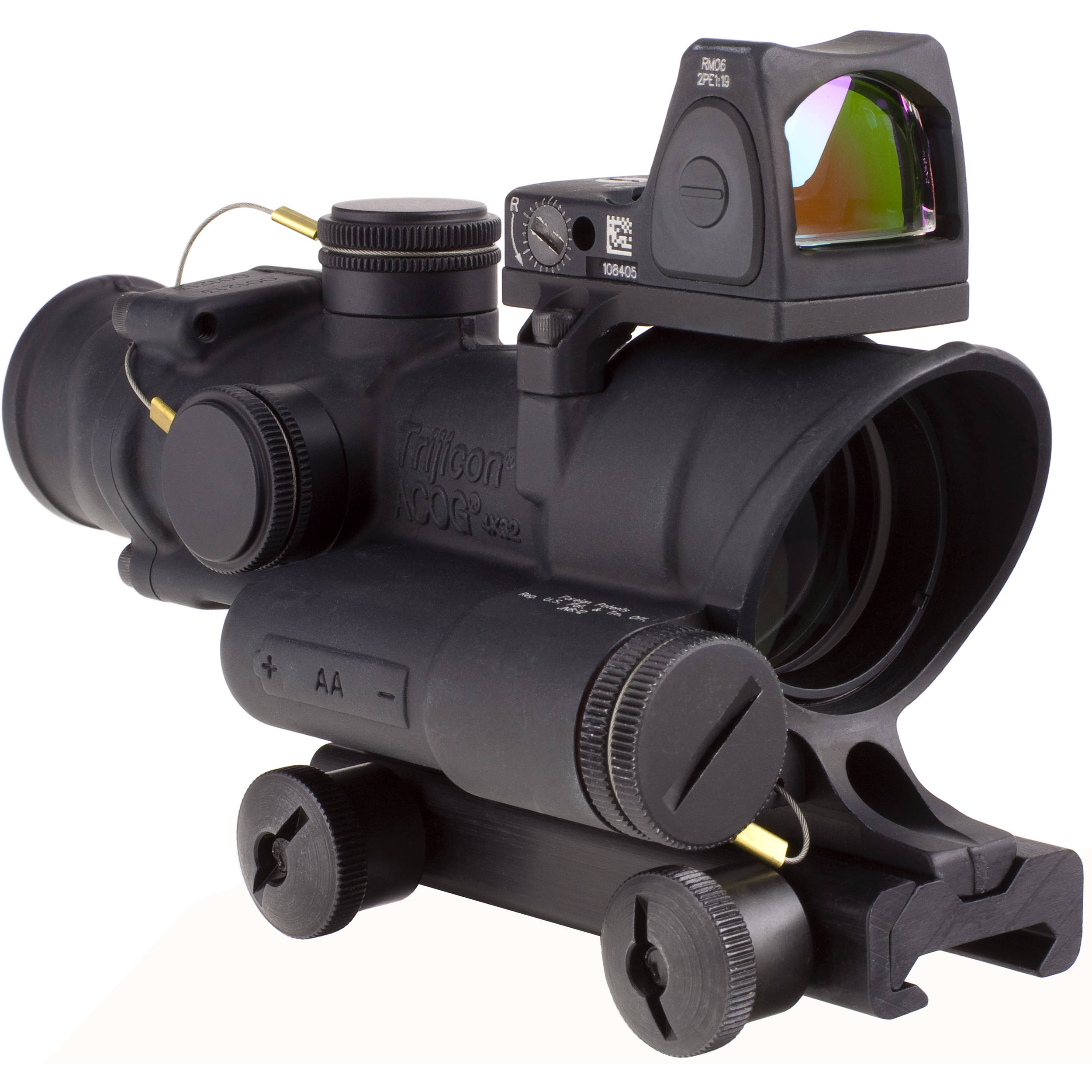 trijicon 4x32 acog led illuminated scope and 3 25 ta02 c 100564