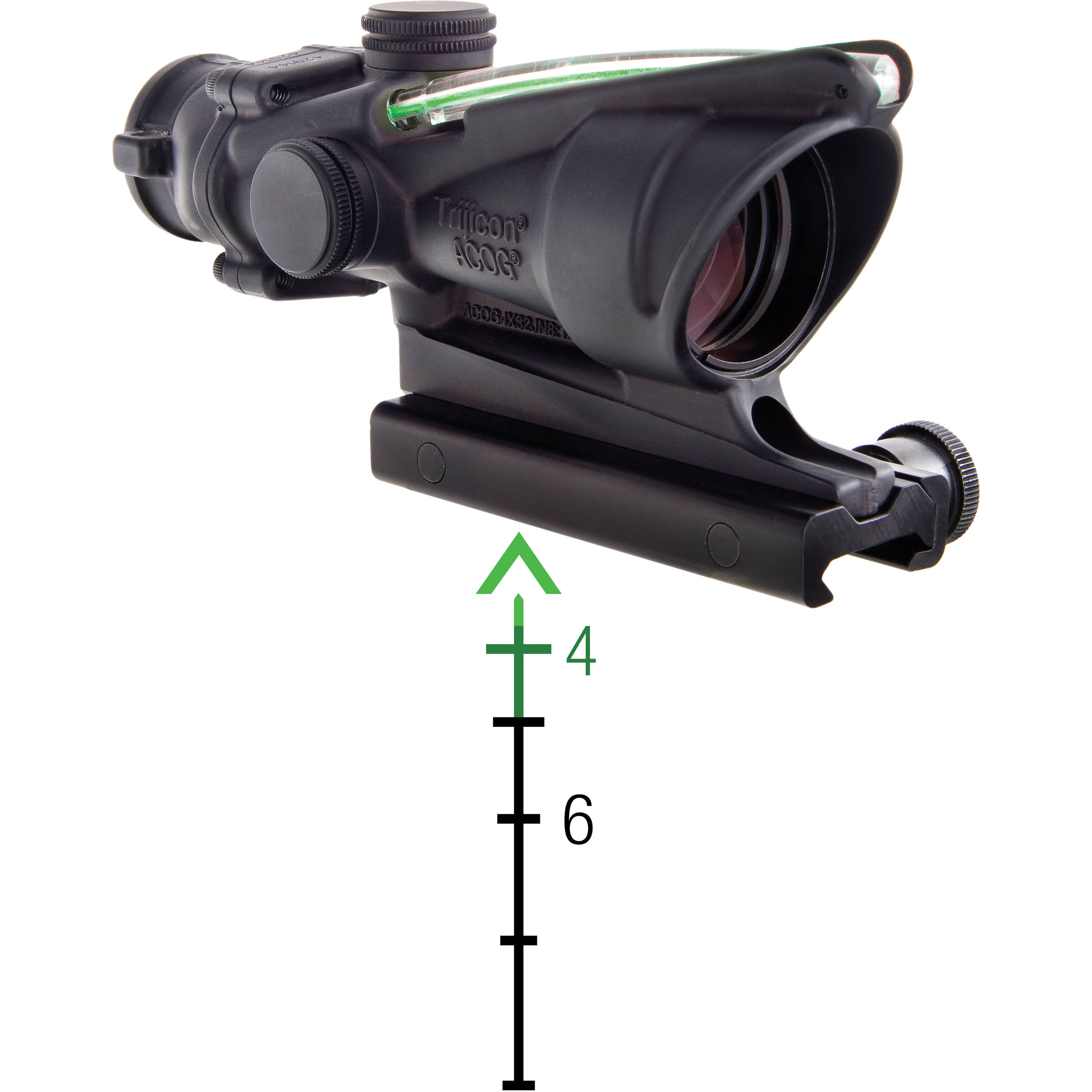 trijicon 4x32 acog riflescope dual illumination ta31 d 100290