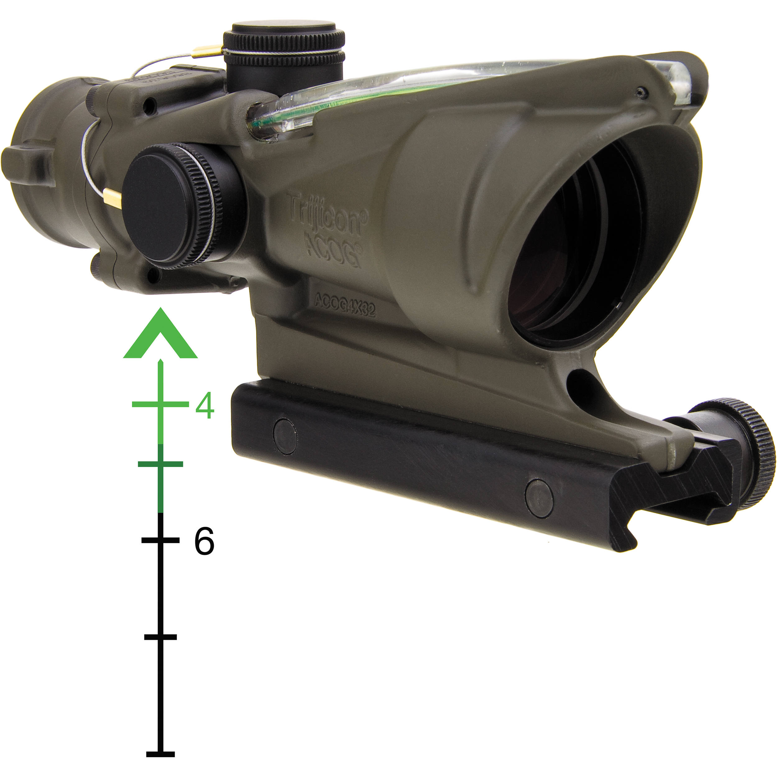 trijicon 4x32 acog riflescope with ta51 mount ta31 d 100312 b h