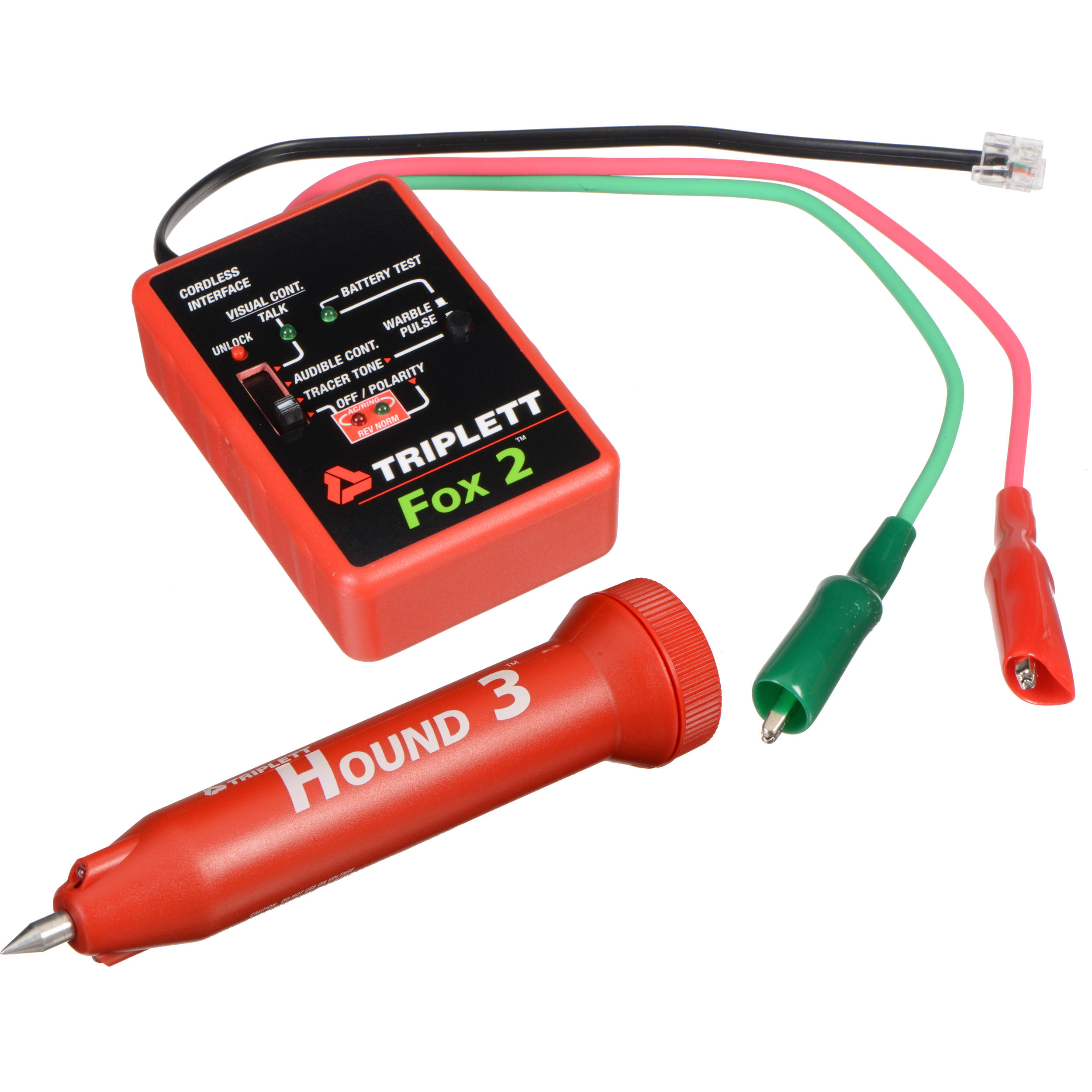 Triplett Fox Hound Wire Tracing Toner Probe Kit 3399 Cable Tracker Open Circuit Tester Testers
