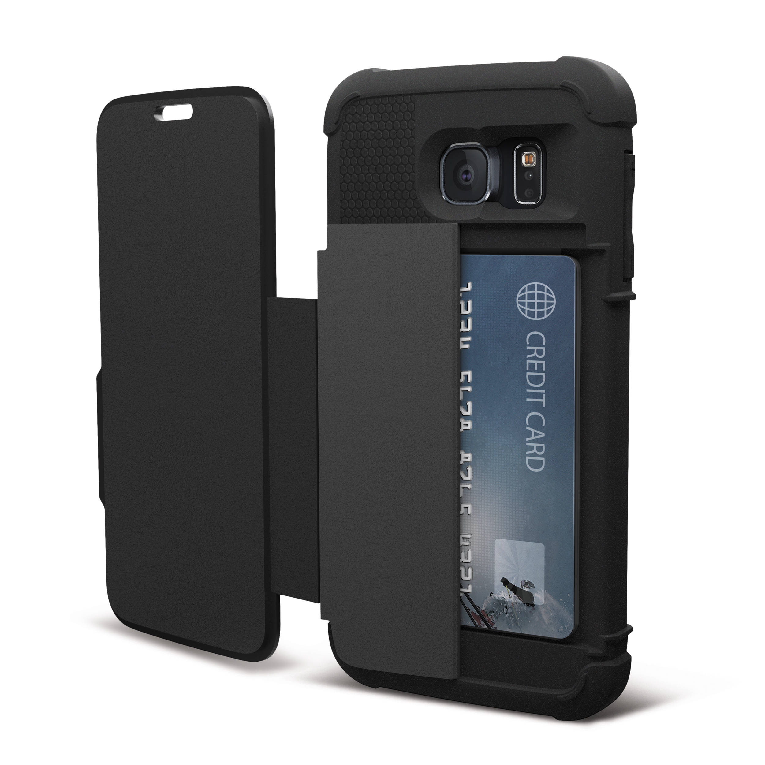 Case Design phone case that holds credit cards : UAG Folio Case for Galaxy S6 (Scout) UAG-GLXS6F-BLK Bu0026H Photo