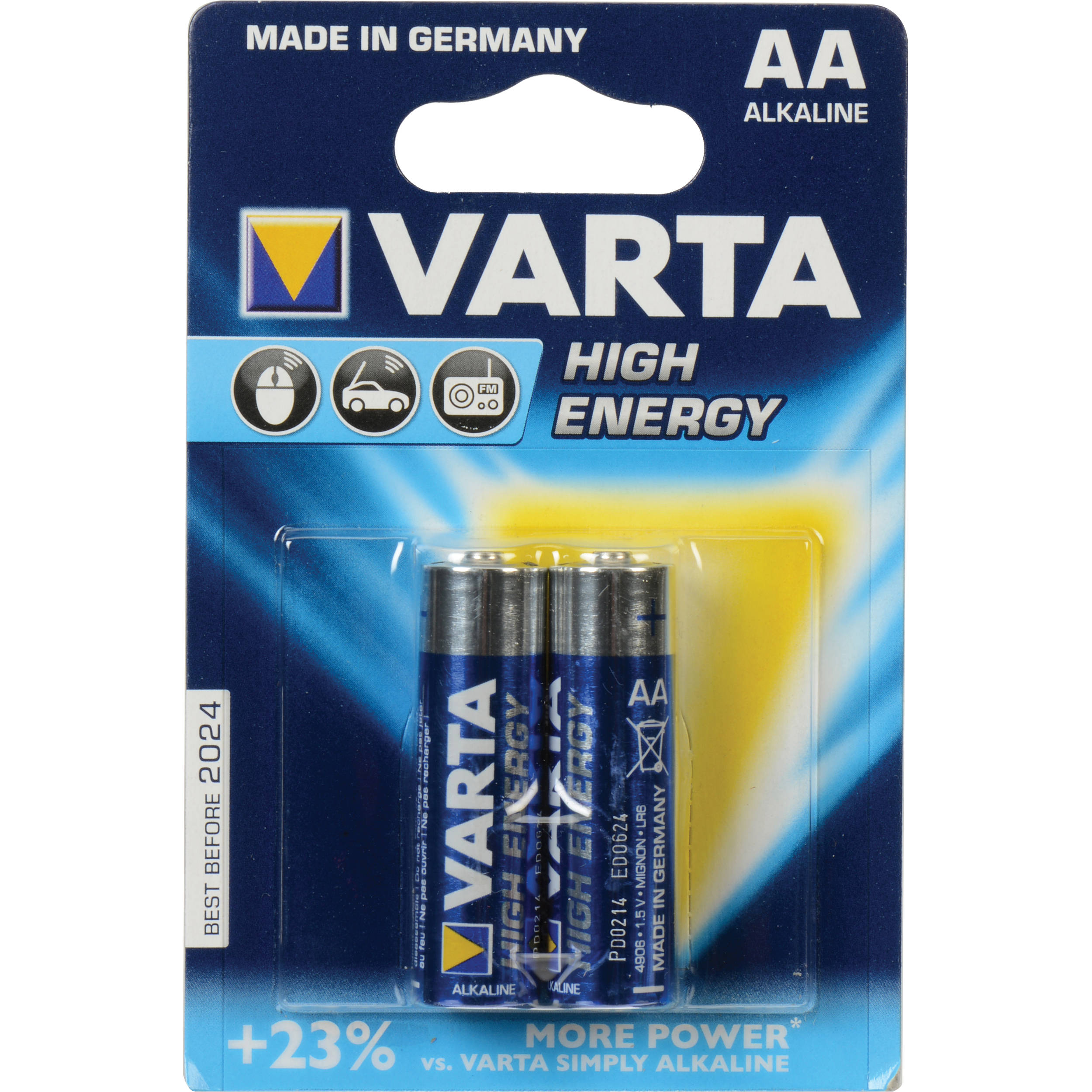 varta high energy 1 5v aa lr6 alkaline battery v4906121412 b h. Black Bedroom Furniture Sets. Home Design Ideas