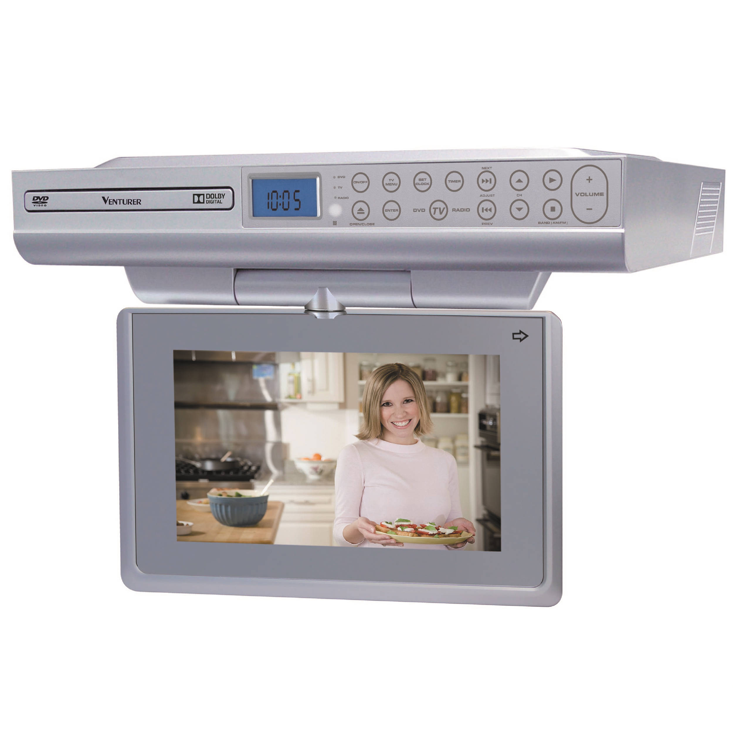 under cabinet kitchen tv dvd combo venturer klv39092 9 quot kitchen lcd tv dvd combo klv39092 b amp h 27489