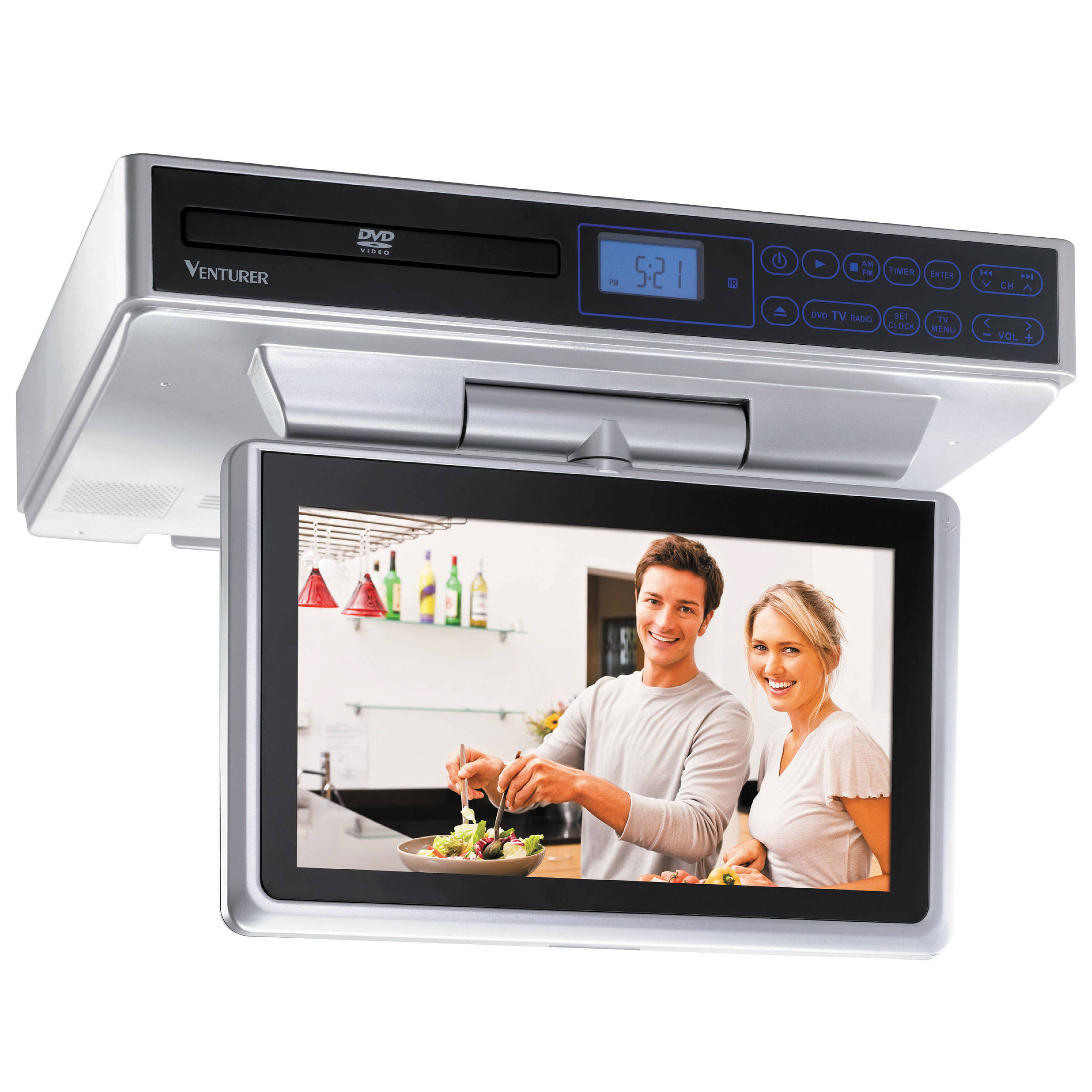 kitchen cabinet dvd venturer klv39103 10 quot kitchen lcd tv dvd combo klv39103 b amp h 18720