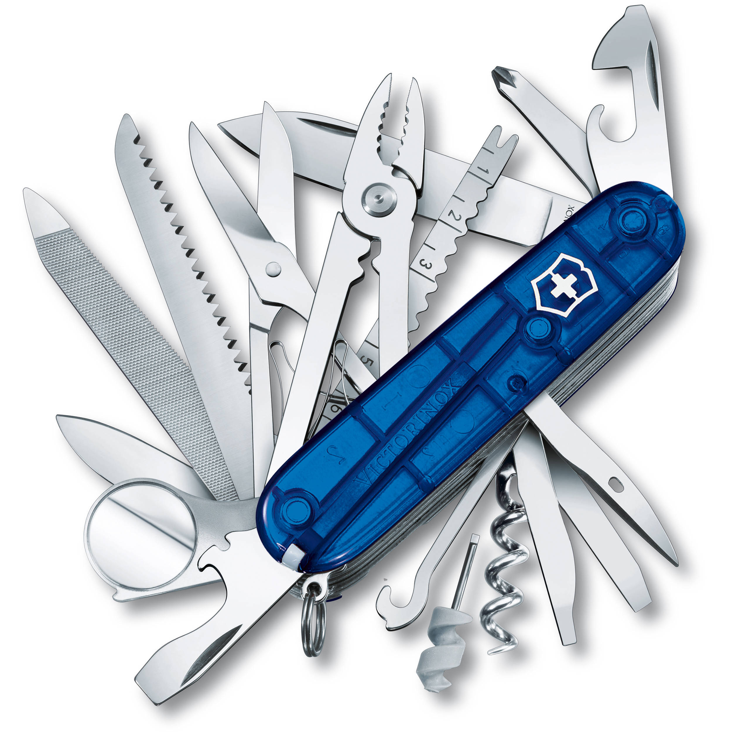 Victorinox Swisschamp Pocket Knife Sapphire 53507 B Amp H Photo