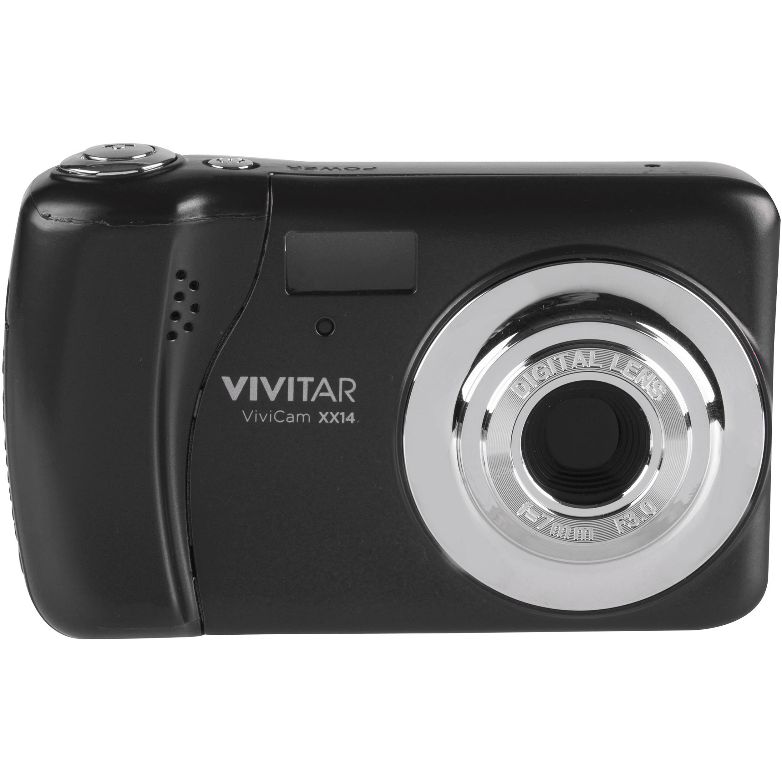 Vivitar ViviCam XX14 Digital Camera (Black) VXX14-BLK B&H Photo