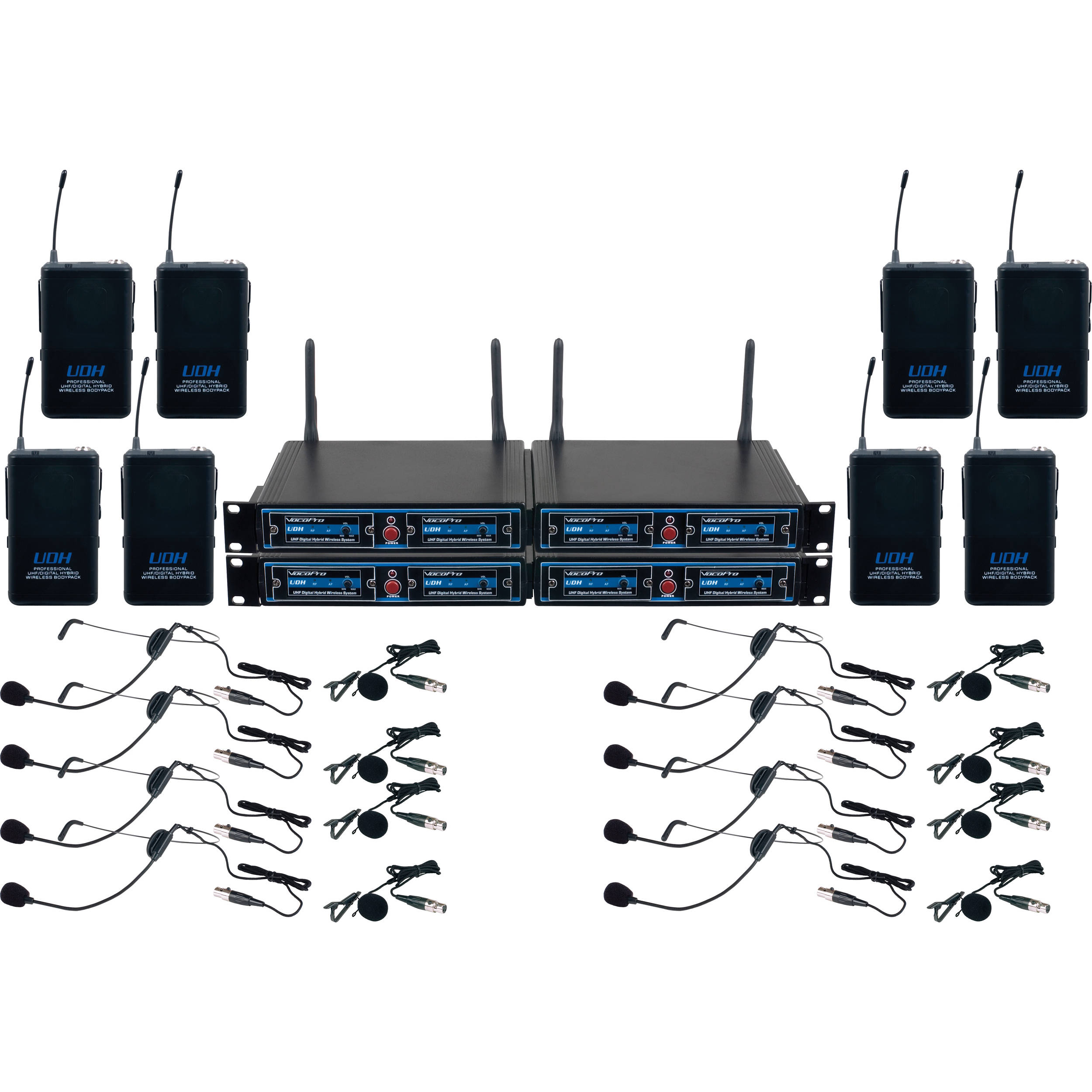 vocopro udh play 8 eight channel uhf headset and udh play 8. Black Bedroom Furniture Sets. Home Design Ideas
