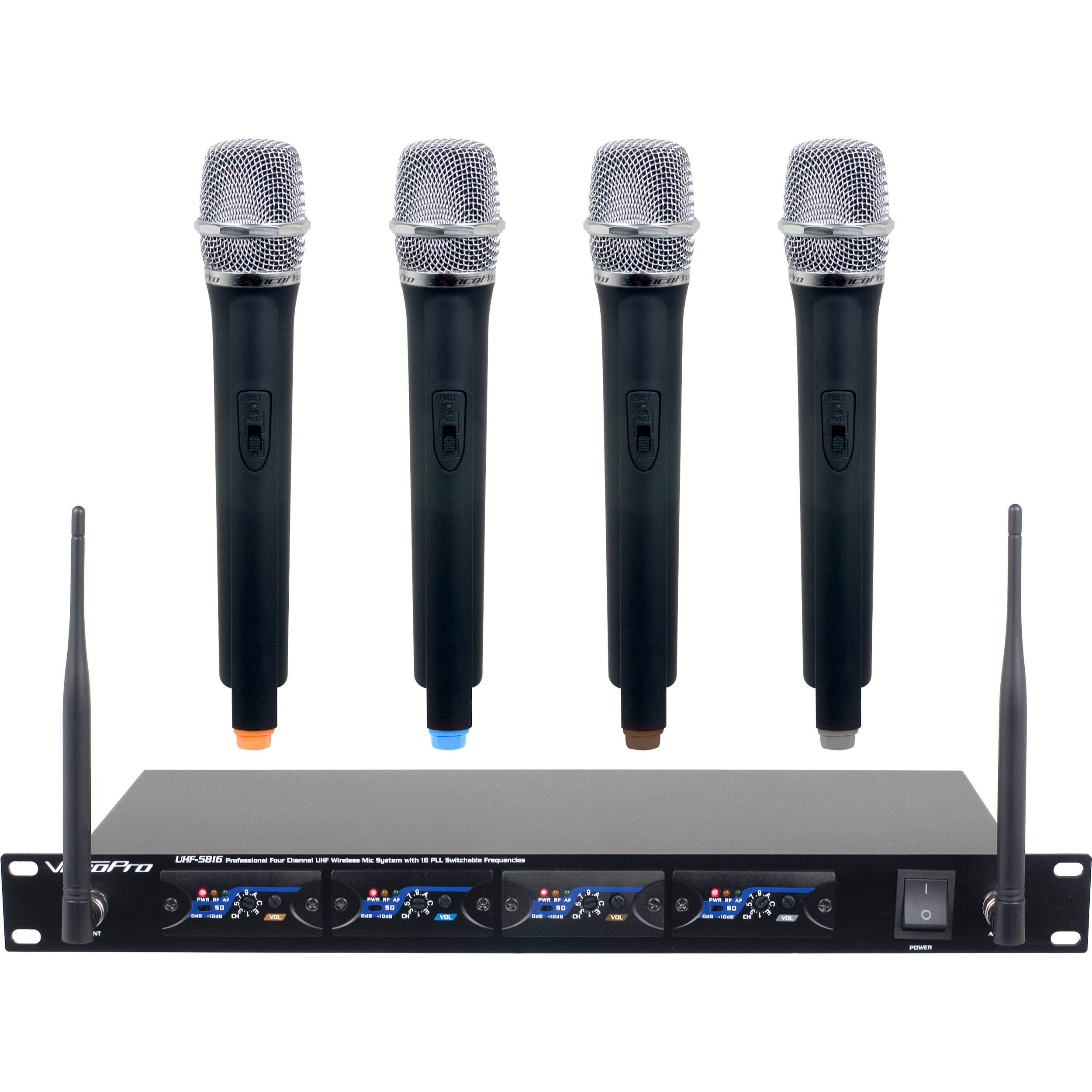 vocopro uhf 5816 t1 4 channel uhf wireless uhf 5816 t1 b h photo. Black Bedroom Furniture Sets. Home Design Ideas