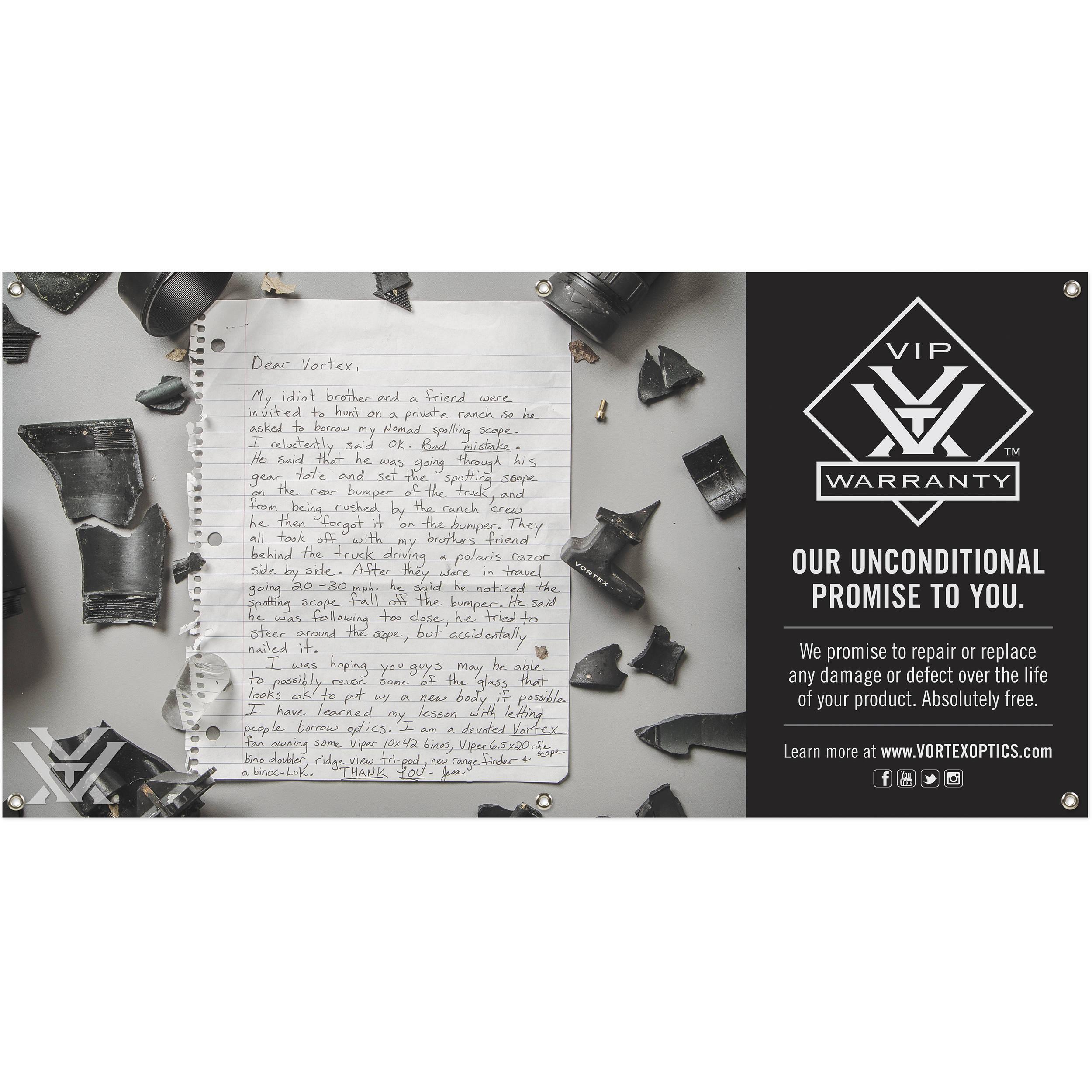 Vortex VIP Story Banner (4 x 2') BANNER-15 B&H Photo Video