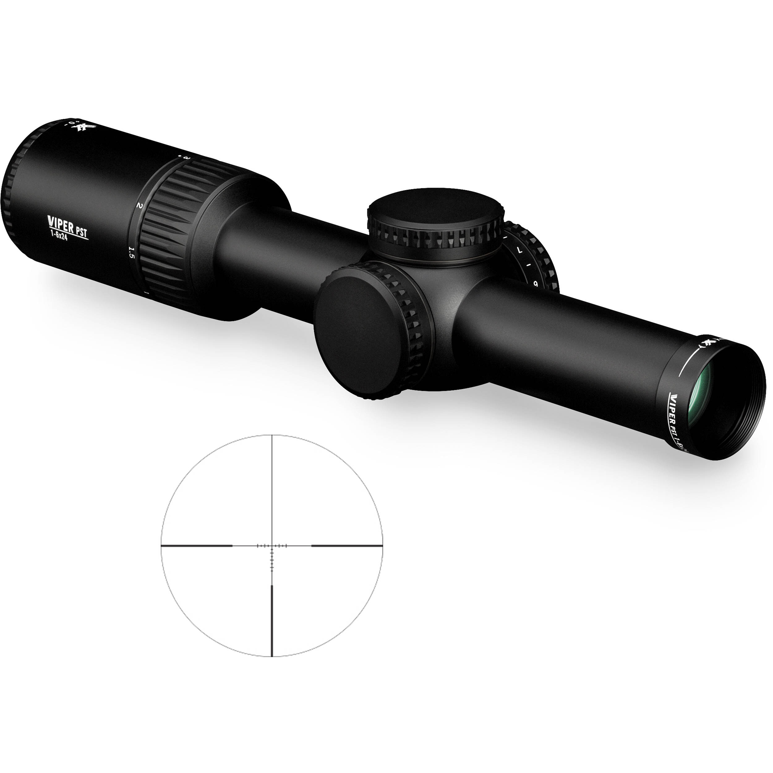 vortex 1 6x24 viper pst gen ii riflescope pst 1607 b h photo. Black Bedroom Furniture Sets. Home Design Ideas