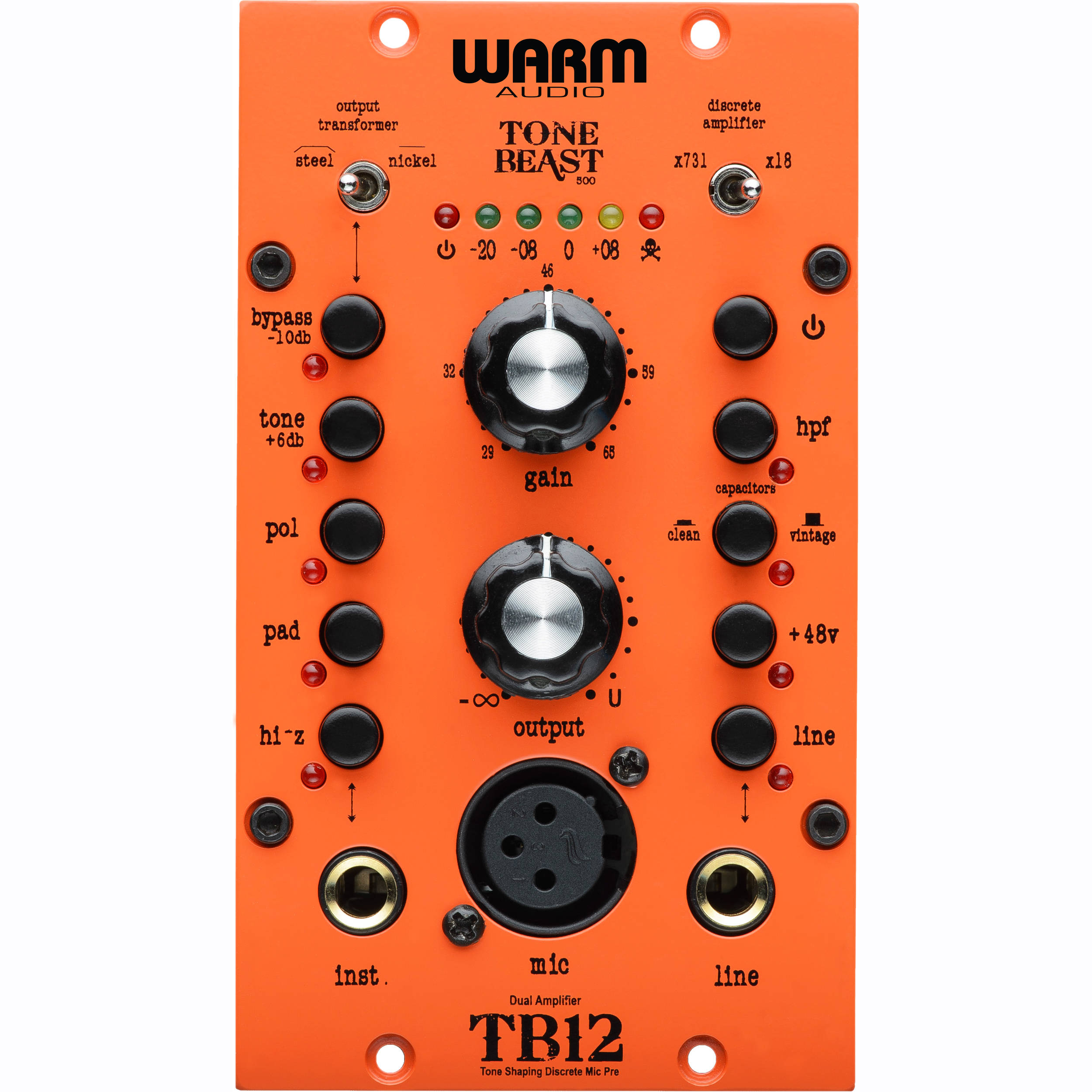 Warm Audio Tb12 500 Tone Beast Microphone Bh Photo Preamplifier For Series Rack