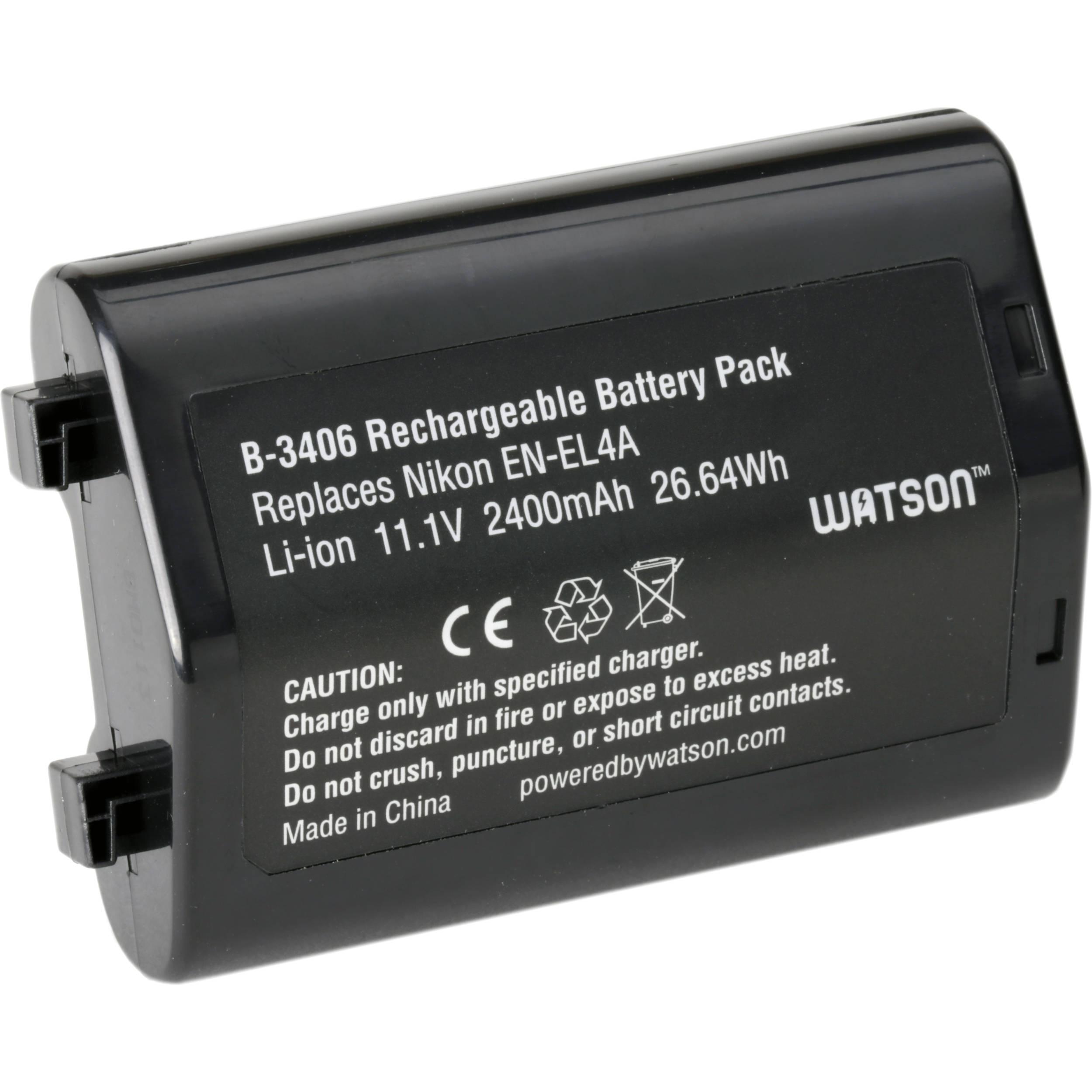 Lithium Ion Battery Pack Watson EN-EL4A ...