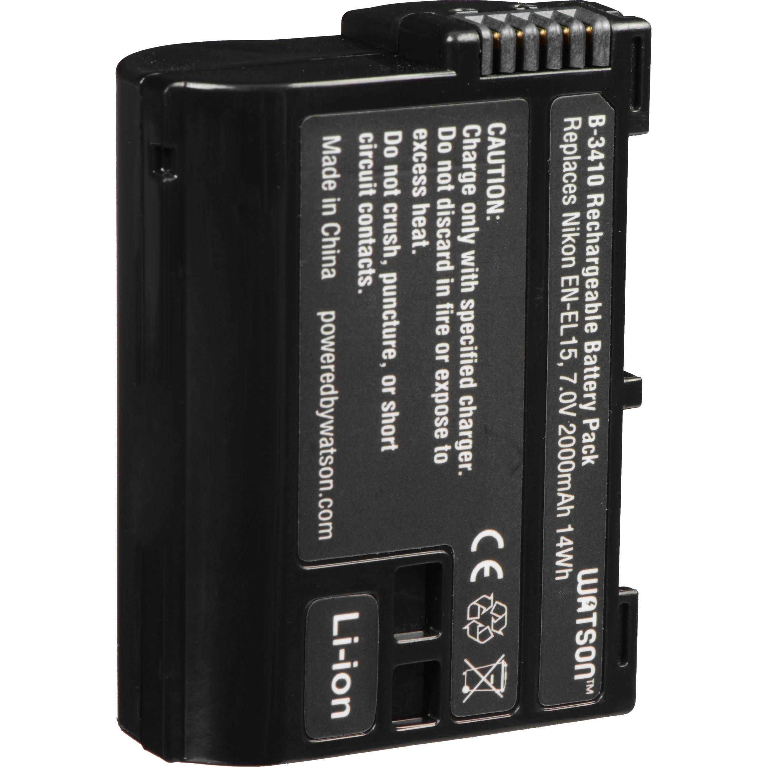 Lithium Ion Battery Pack Watson EN-EL15 ...