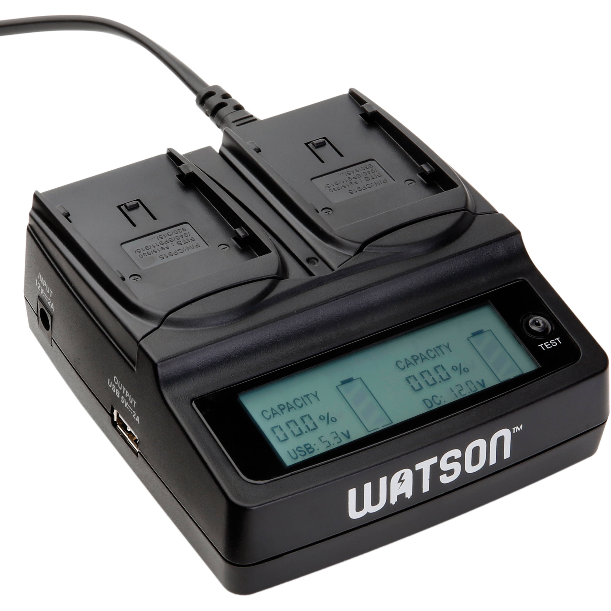 watson duo lcd charger for bp 900 series batteries d 1511 b h. Black Bedroom Furniture Sets. Home Design Ideas
