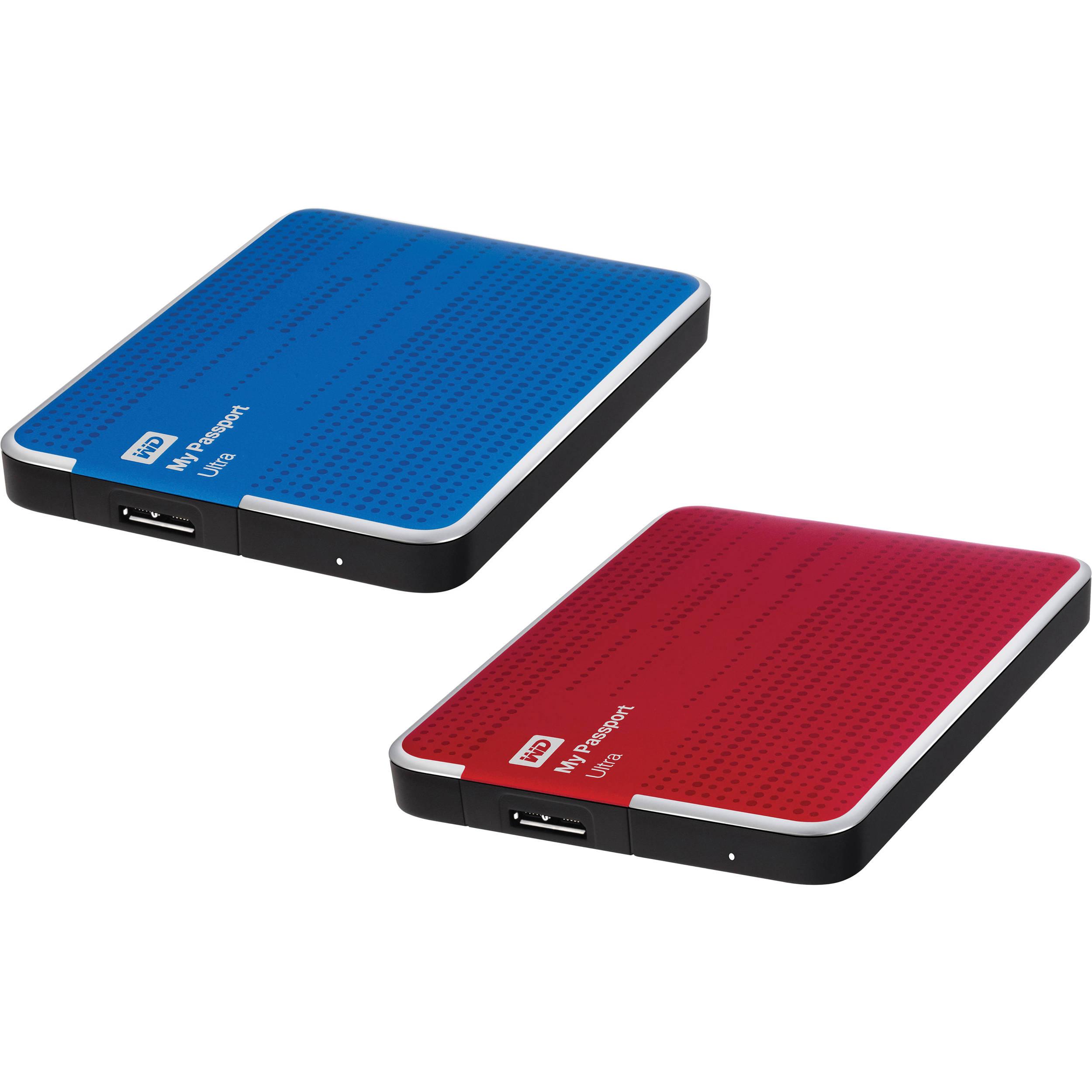 wd 2 x 2tb my passport ultra usb 3 0 portable hard drive kit b h. Black Bedroom Furniture Sets. Home Design Ideas