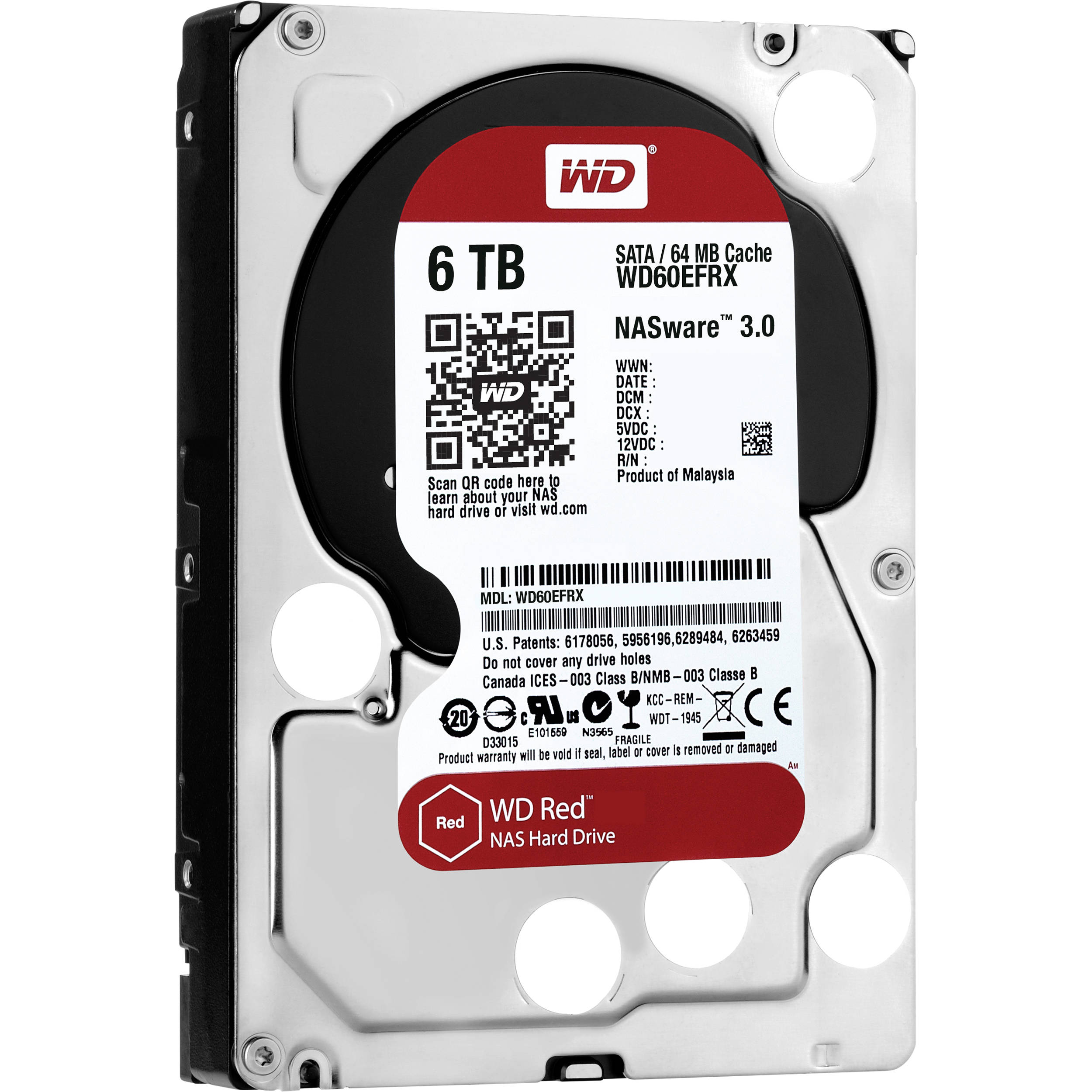 Wd 6tb Red 5400 Rpm Sata Iii 35 Internal Nas Hdd Wd60efrx Hardisk Pc 250 Gb Seagate