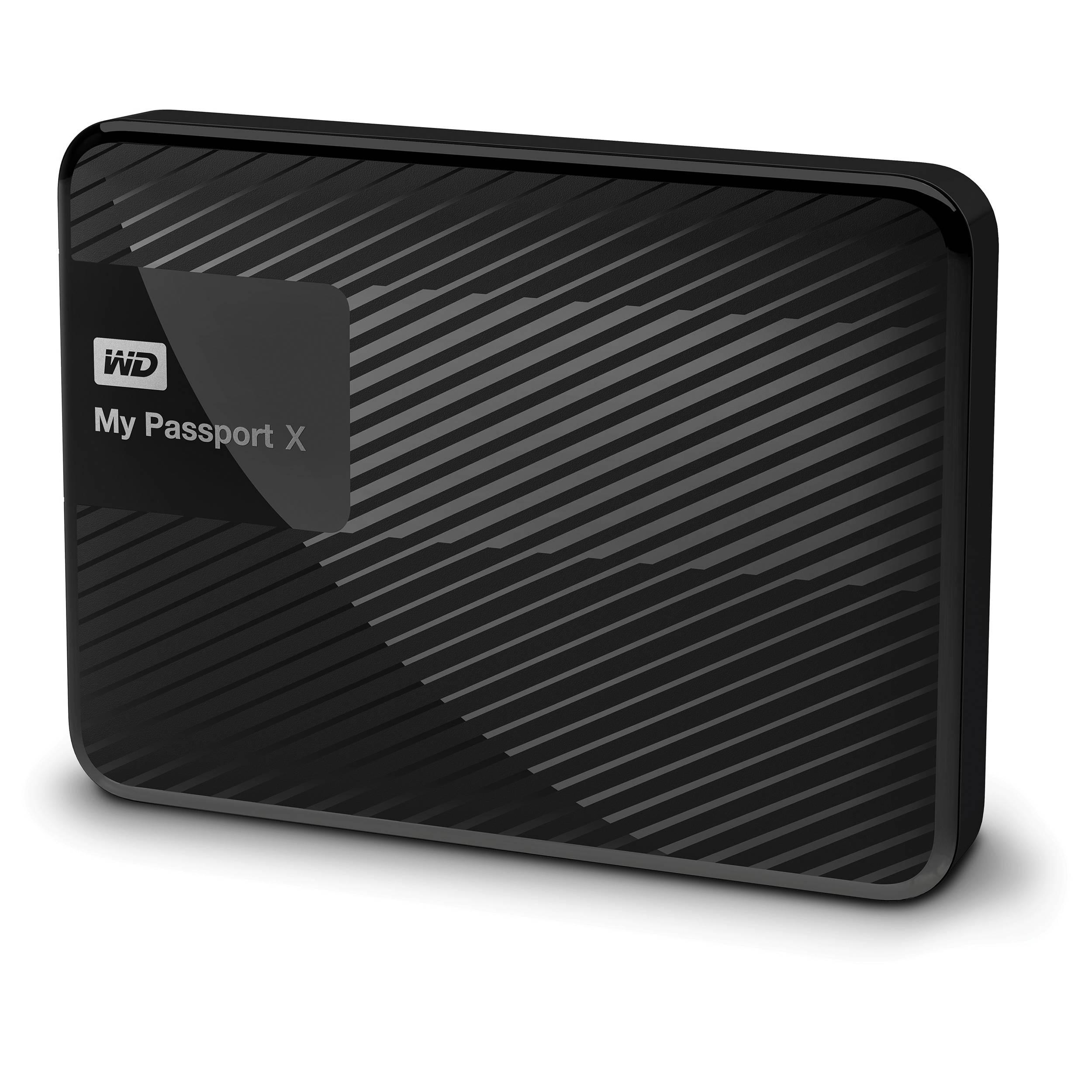 WD 2TB My Passport X USB 3.0 Hard Drive WDBCRM0020BBK-NESN B&H