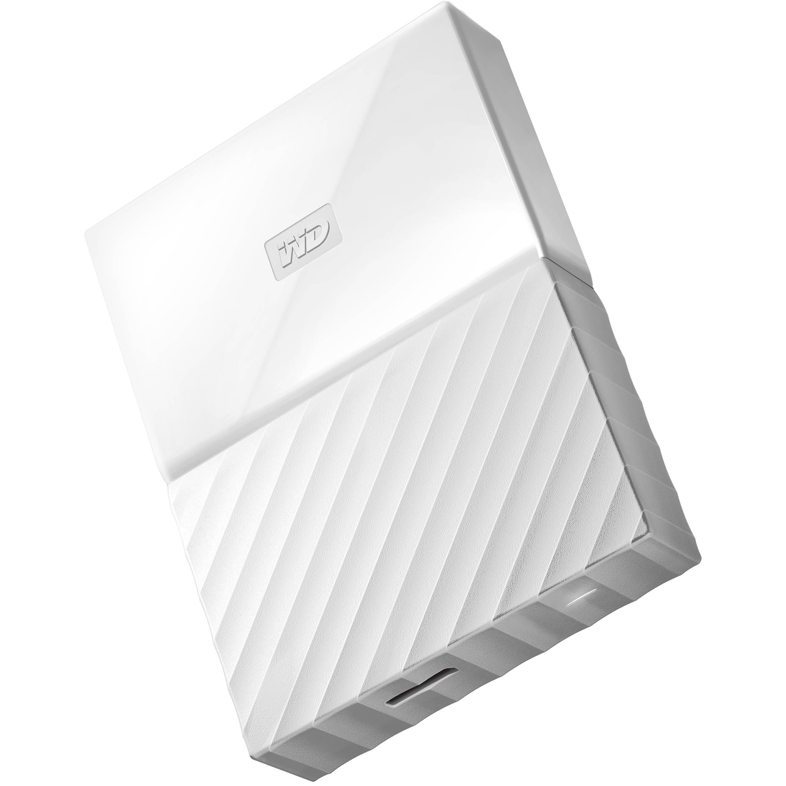 2TB My Passport USB 3 0 Secure Portable Hard Drive (White)