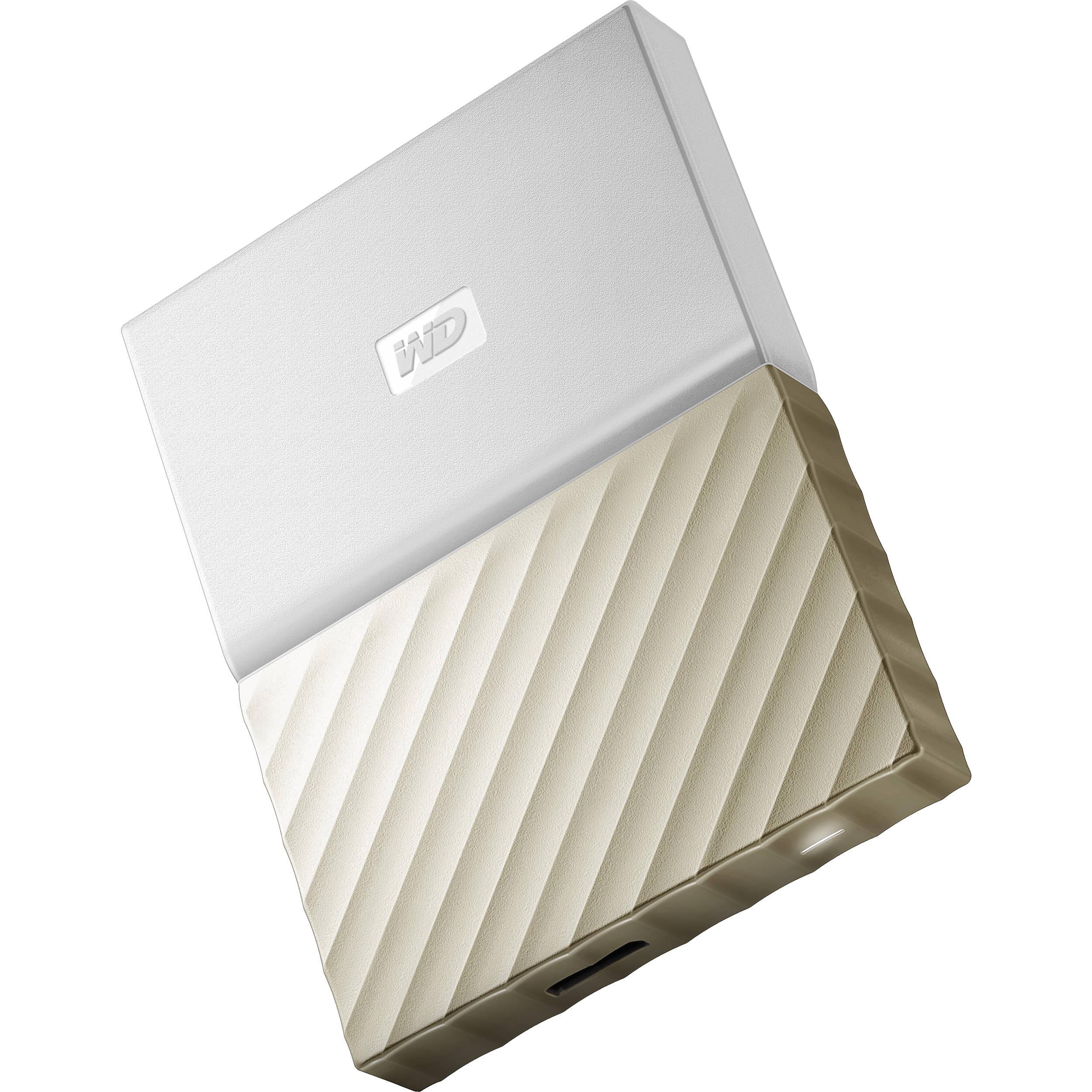 1TB My Passport Ultra USB 3 0 External Hard Drive (White/Gold)