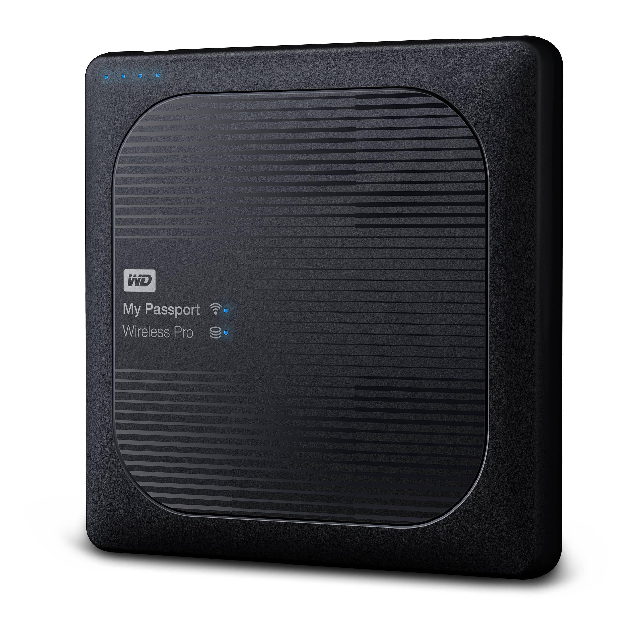 WD 1TB My Passport Wireless Pro USB 3.0 WDBVPL0010BBK-NESN B&H