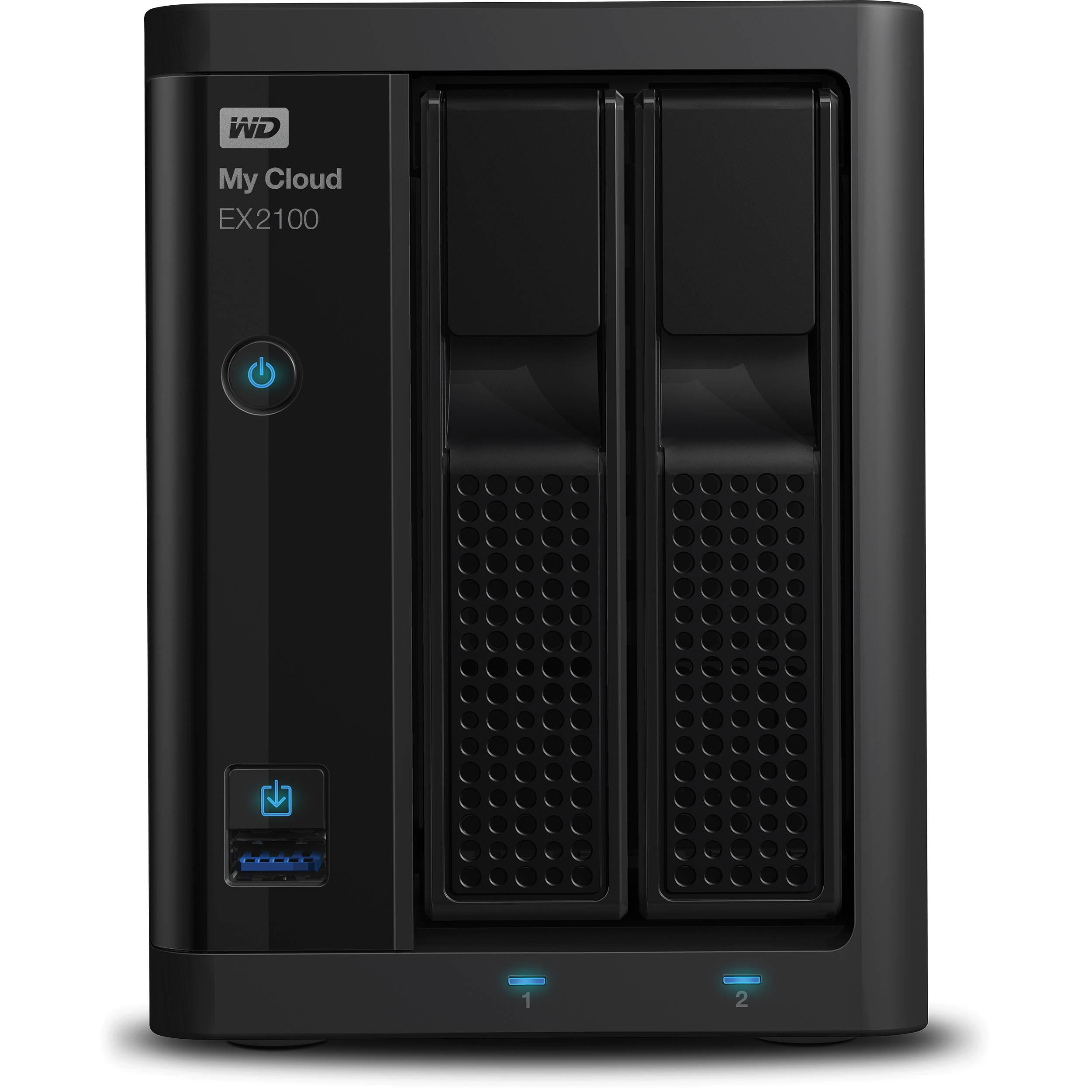WD 8TB (2 x 4TB) My Cloud Expert Series WDBWAZ0080JBK-NESN B&H