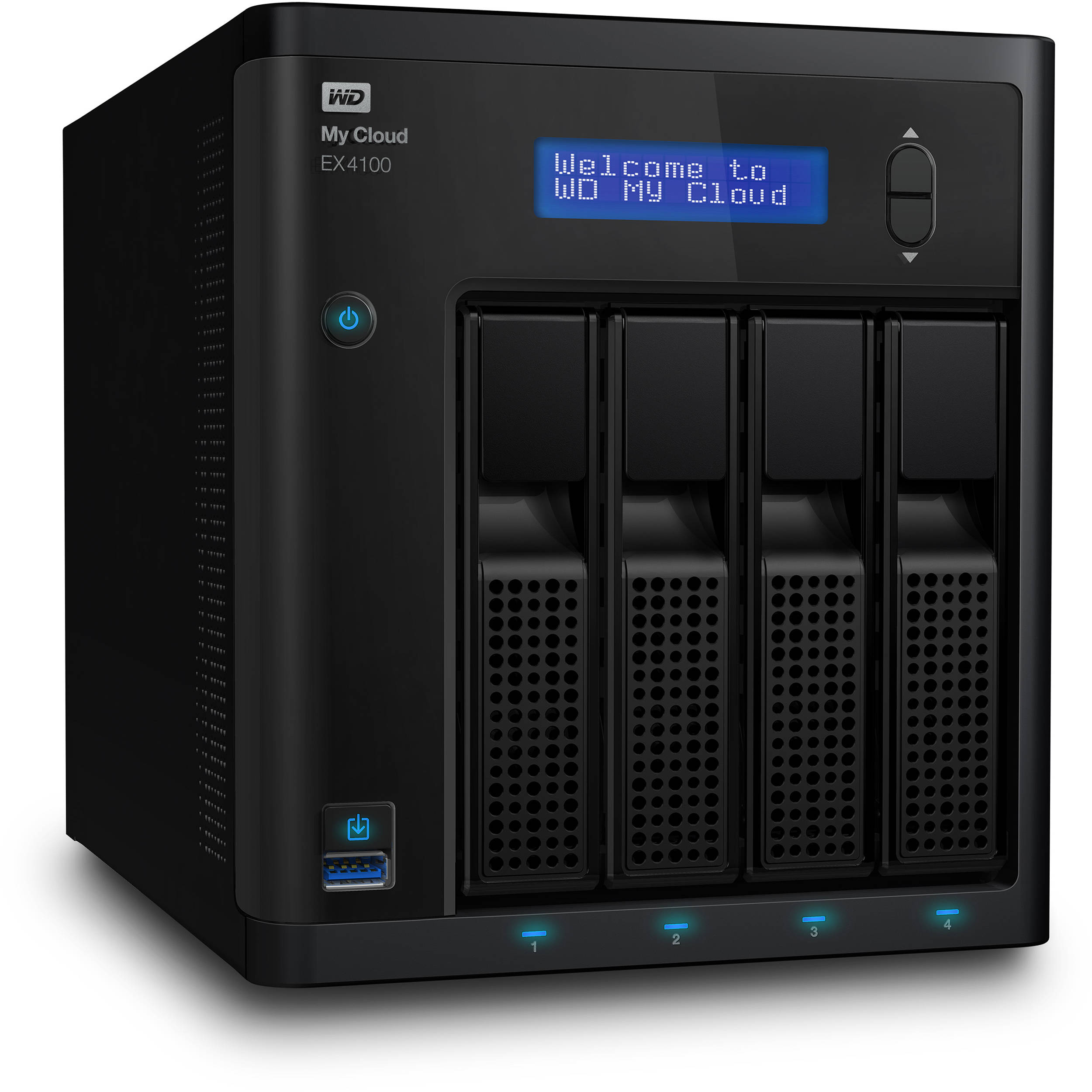 Wd 8tb 2 X 4tb My Cloud Expert Series Wdbwze0080kbk Nesn B Amp H