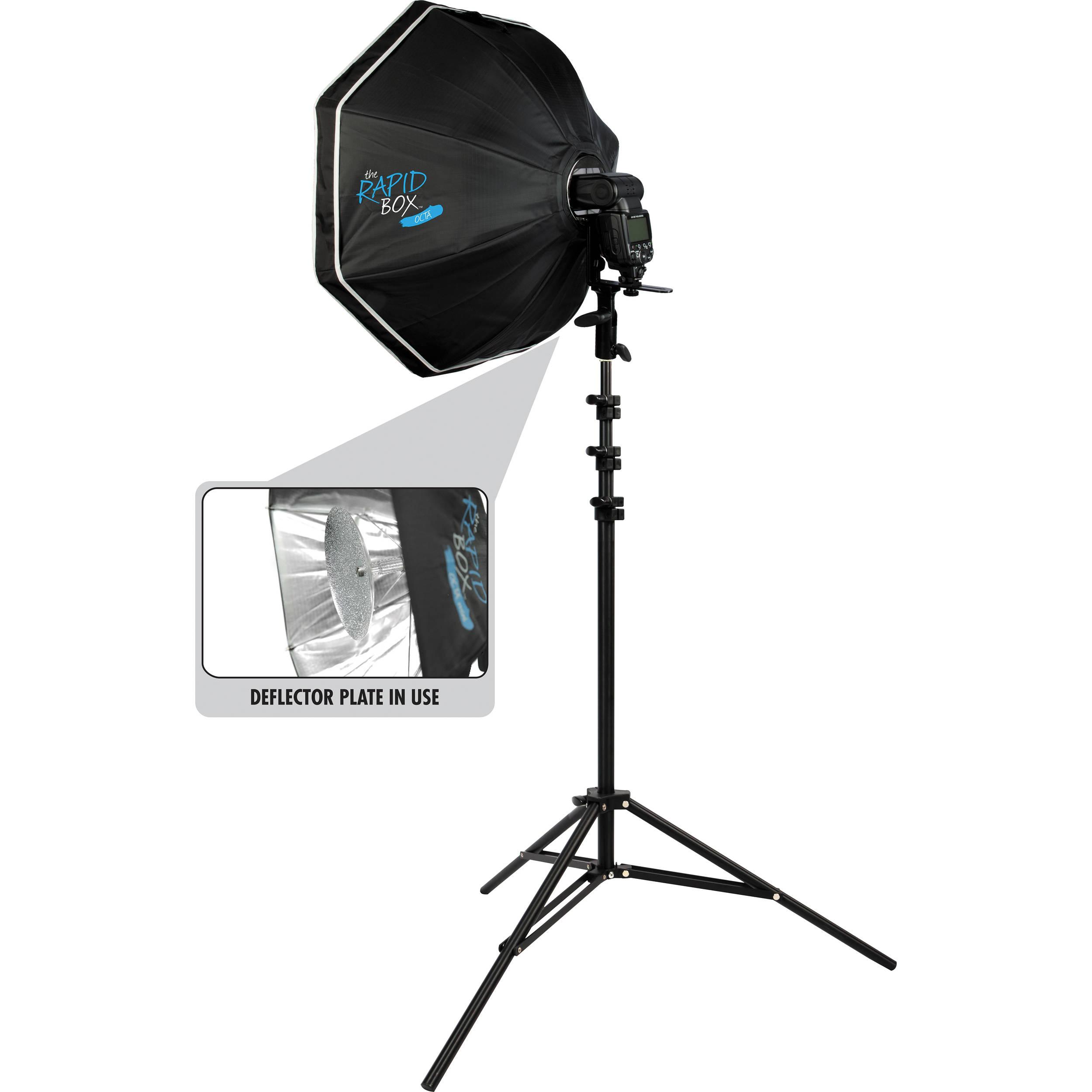 "Umbrella Vs Softbox Vs Beauty Dish: Westcott Rapid Box 26"" Octa Speedlite Kit 2035 B&H Photo"