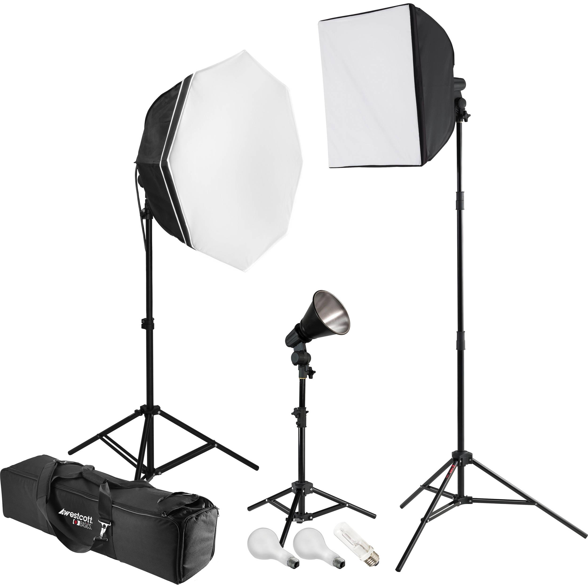 Westcott uLite 3-Light 1100W Tungsten Kit 445 B&H Photo Video