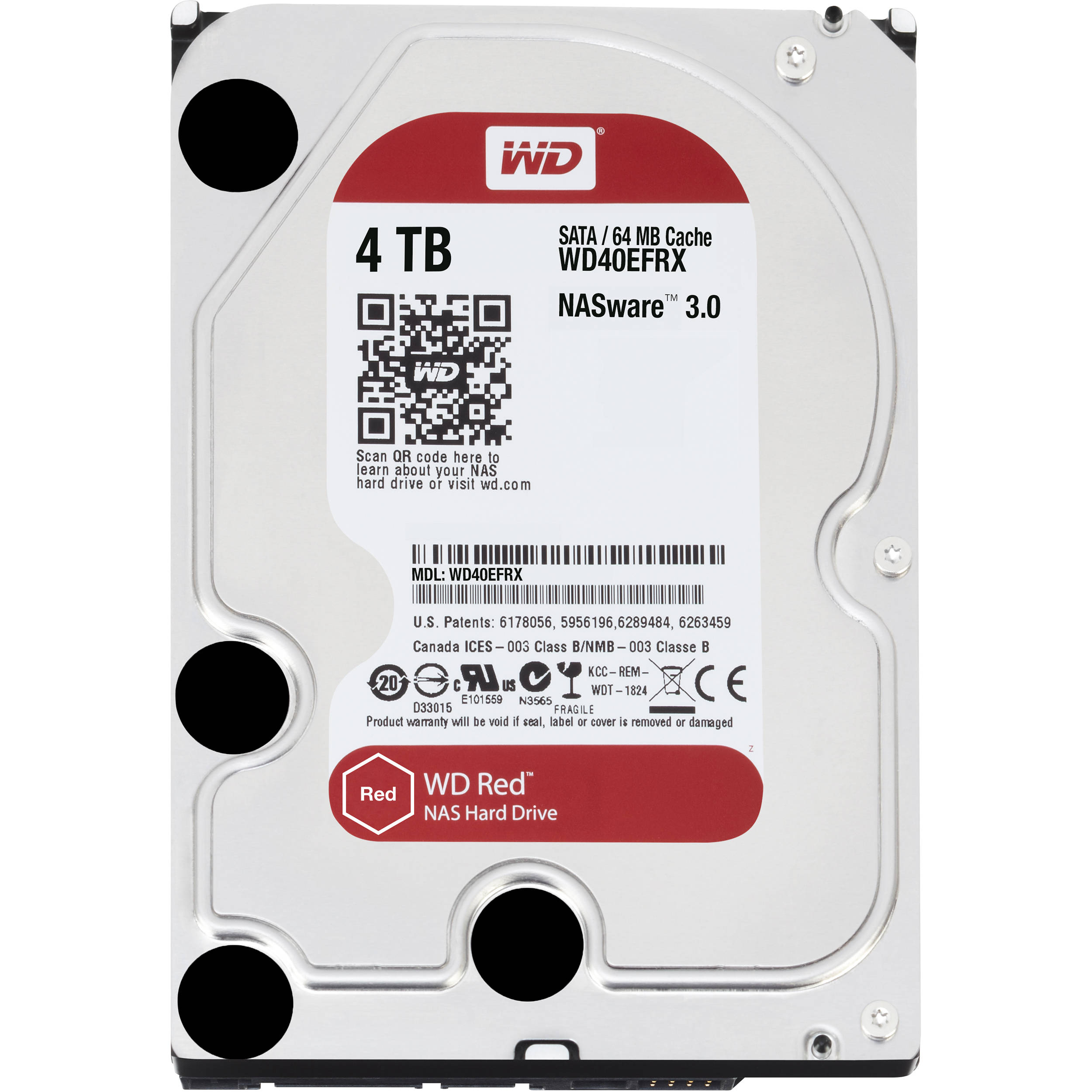 wd 4tb red 5400 rpm sata iii 3 5 internal nas hdd wd40efrx. Black Bedroom Furniture Sets. Home Design Ideas