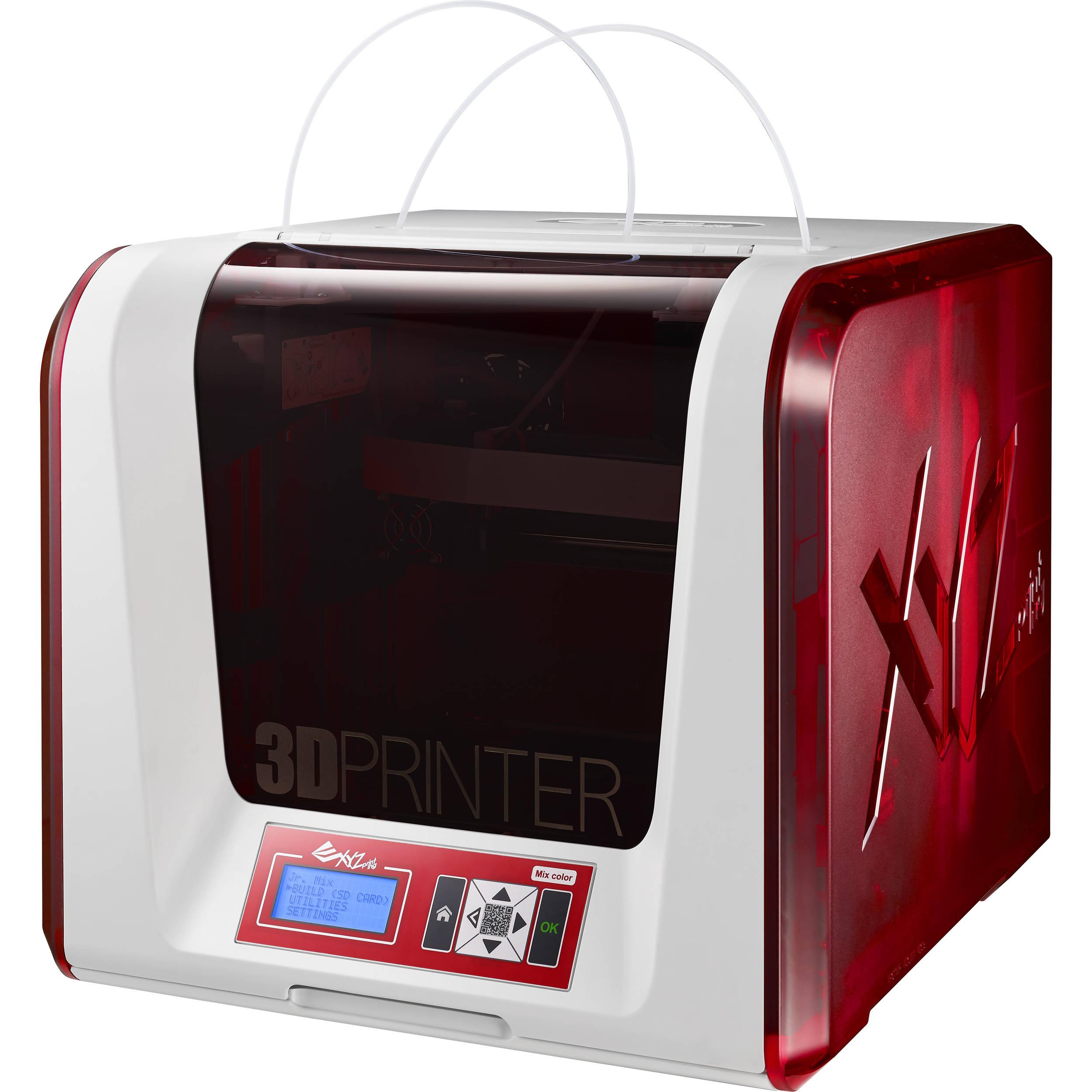 XYZprinting Da Vinci Jr. 2.0 Mix 3D Printer 3F2JWXUS00D B&H