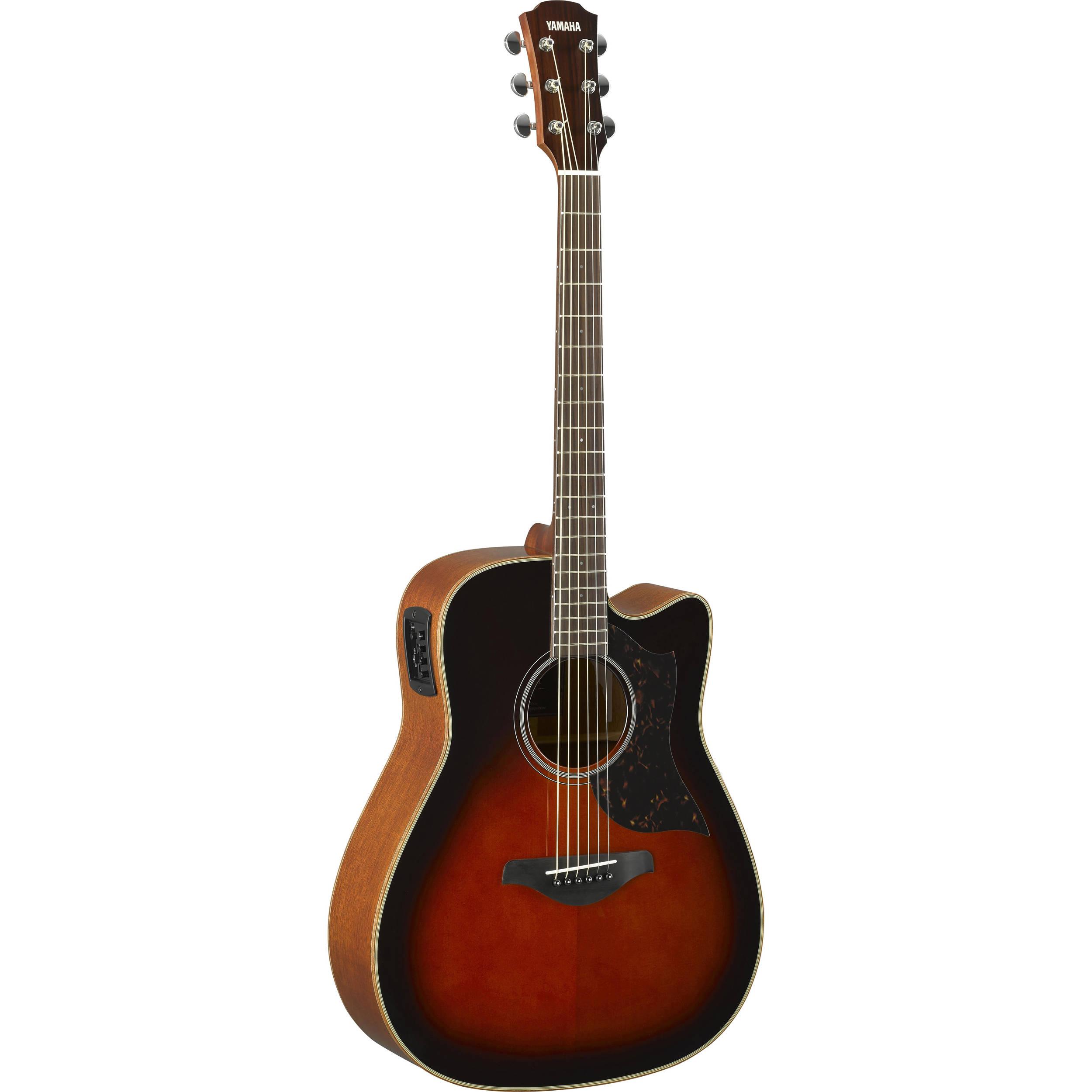 yamaha a1m western acoustic electric cutaway guitar a1m tbs b h. Black Bedroom Furniture Sets. Home Design Ideas
