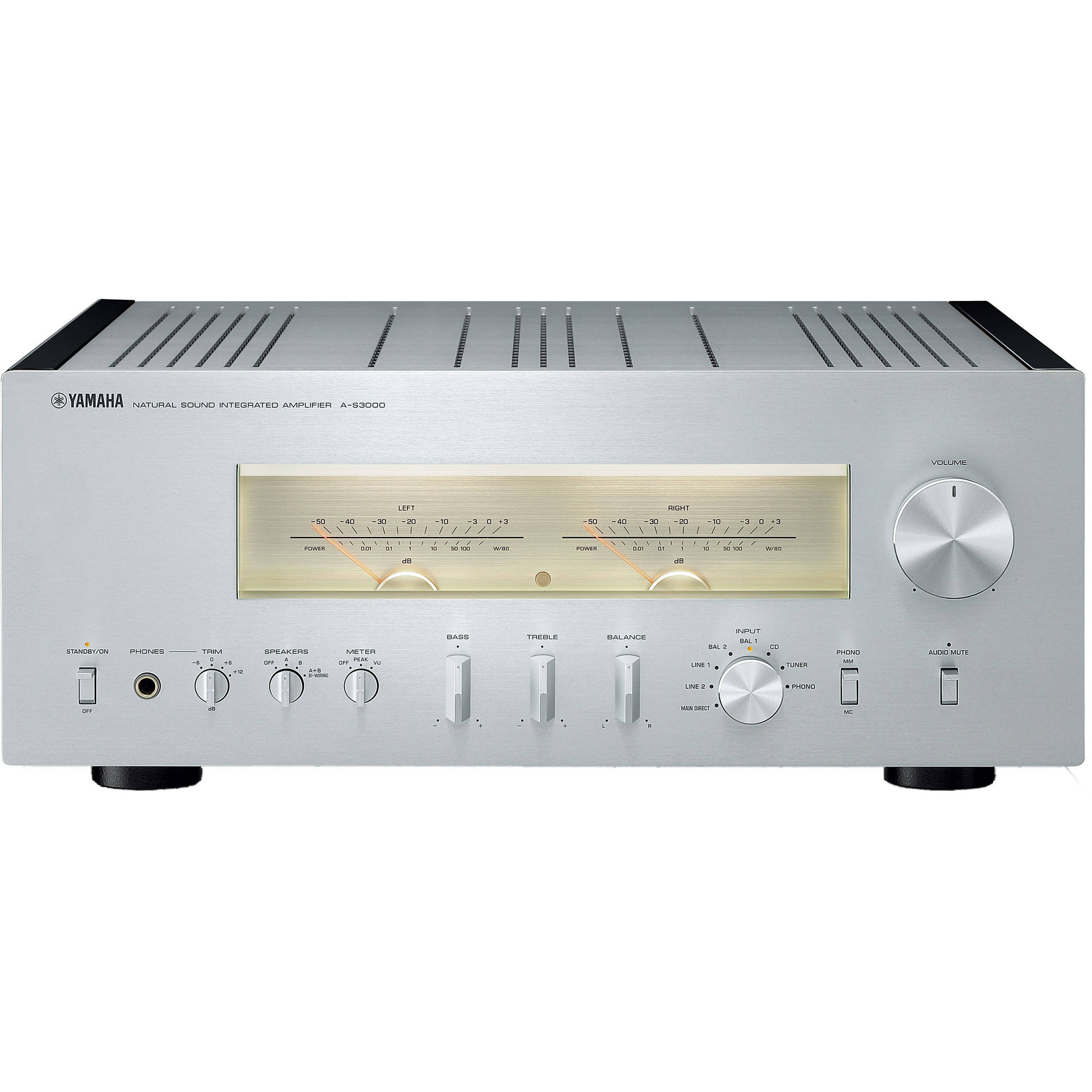 yamaha a s3000 integrated amplifier silver a s3000sl b h. Black Bedroom Furniture Sets. Home Design Ideas